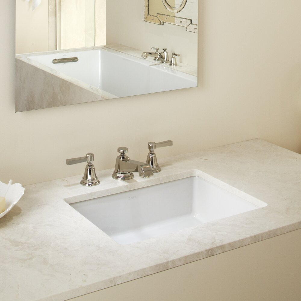 Rectangular Bathroom Sinks Kohler Verticyl Rectangular Undermount Bathroom Sink With Overflow