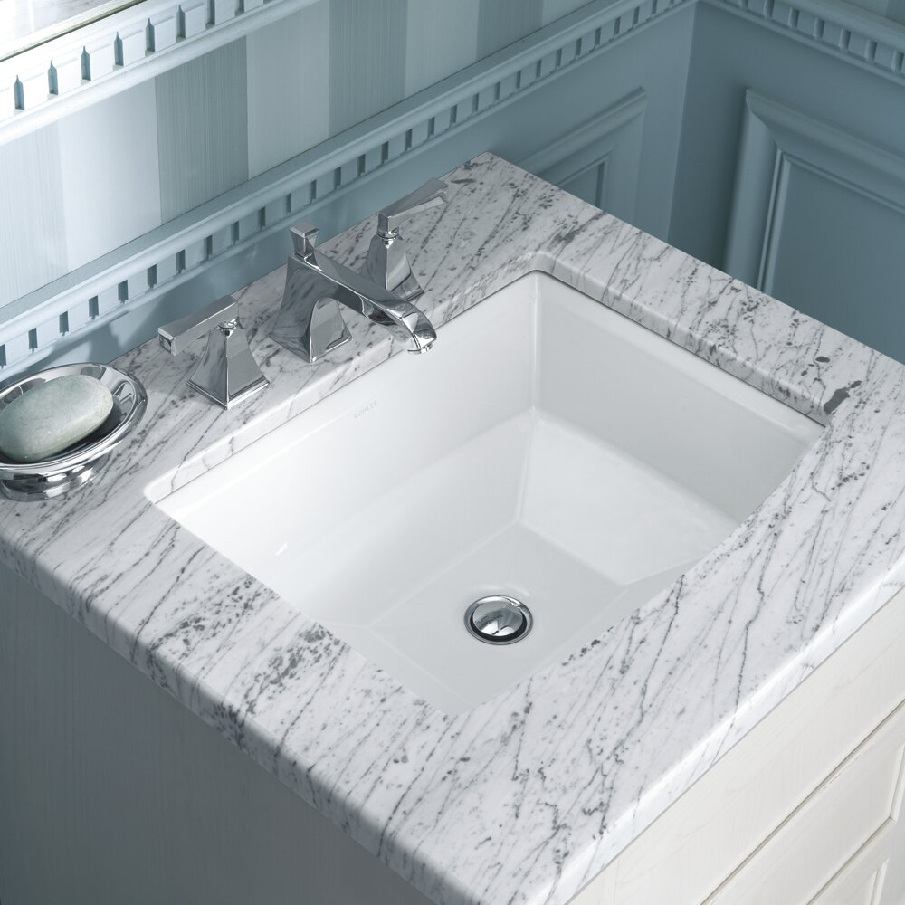 Kohler archer rectangular undermount bathroom sink Kohler rectangular undermount bathroom sink