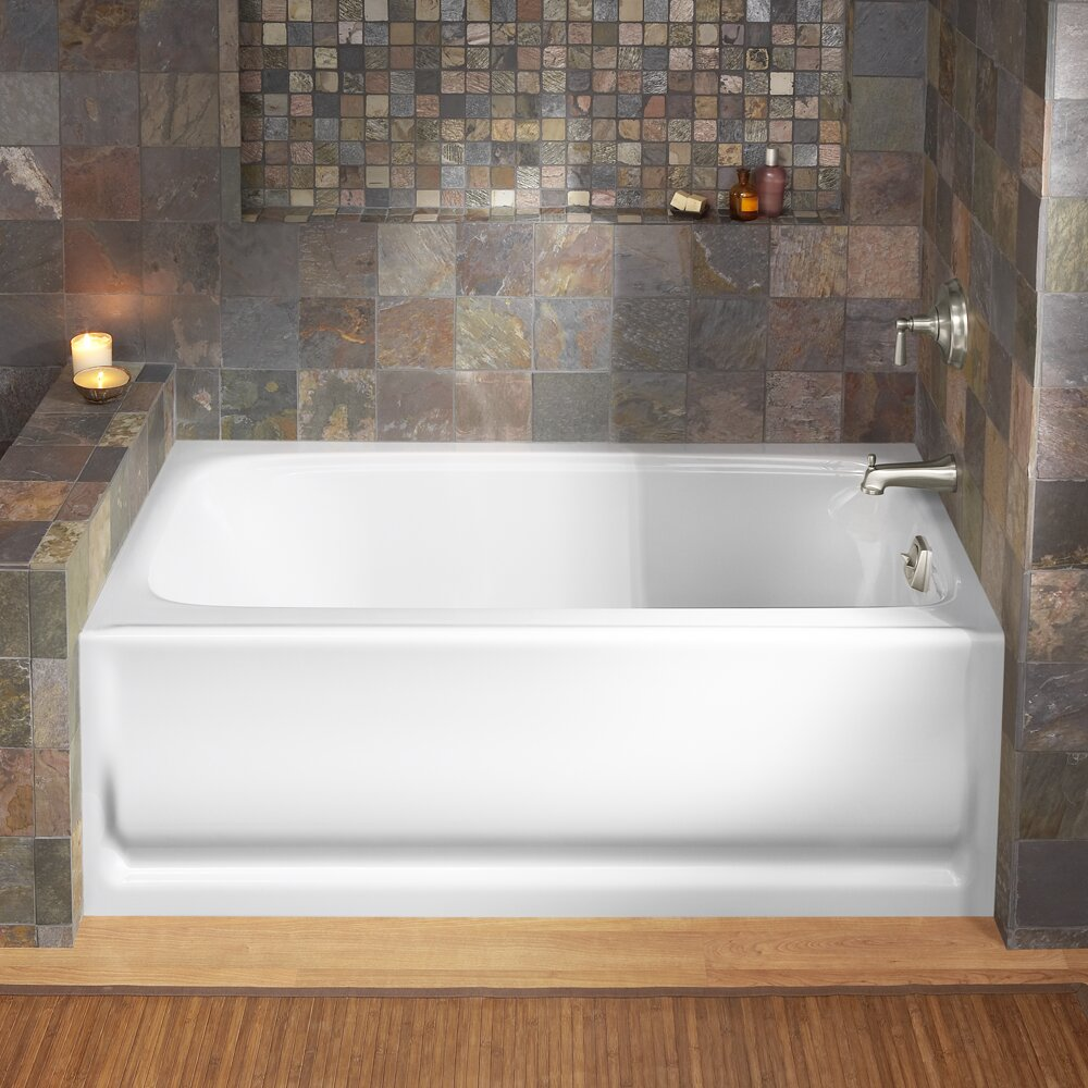kohler bancroft 60 x 32 soaking bathtub reviews wayfair. Black Bedroom Furniture Sets. Home Design Ideas