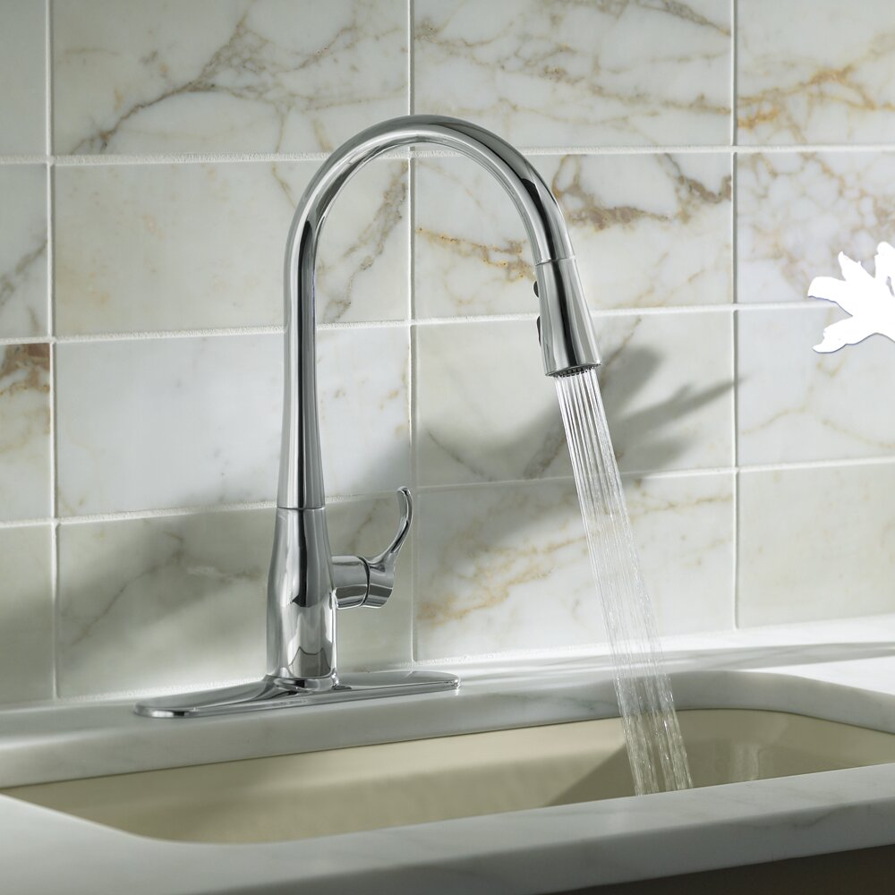 kohler simplice kitchen sink faucet with 16-5/8