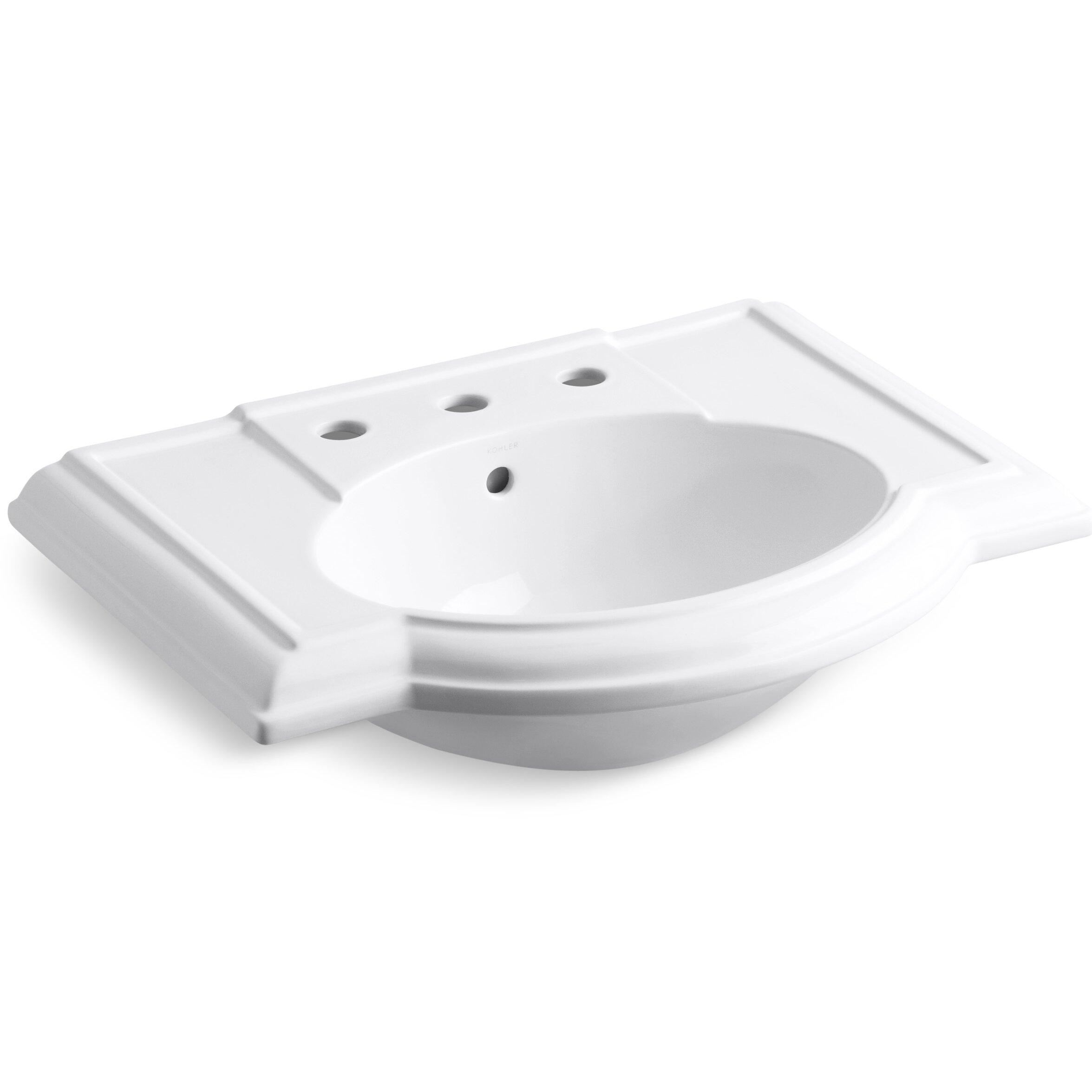 Kohler Devonshire Bathroom Sink With 8 Widespread Faucet