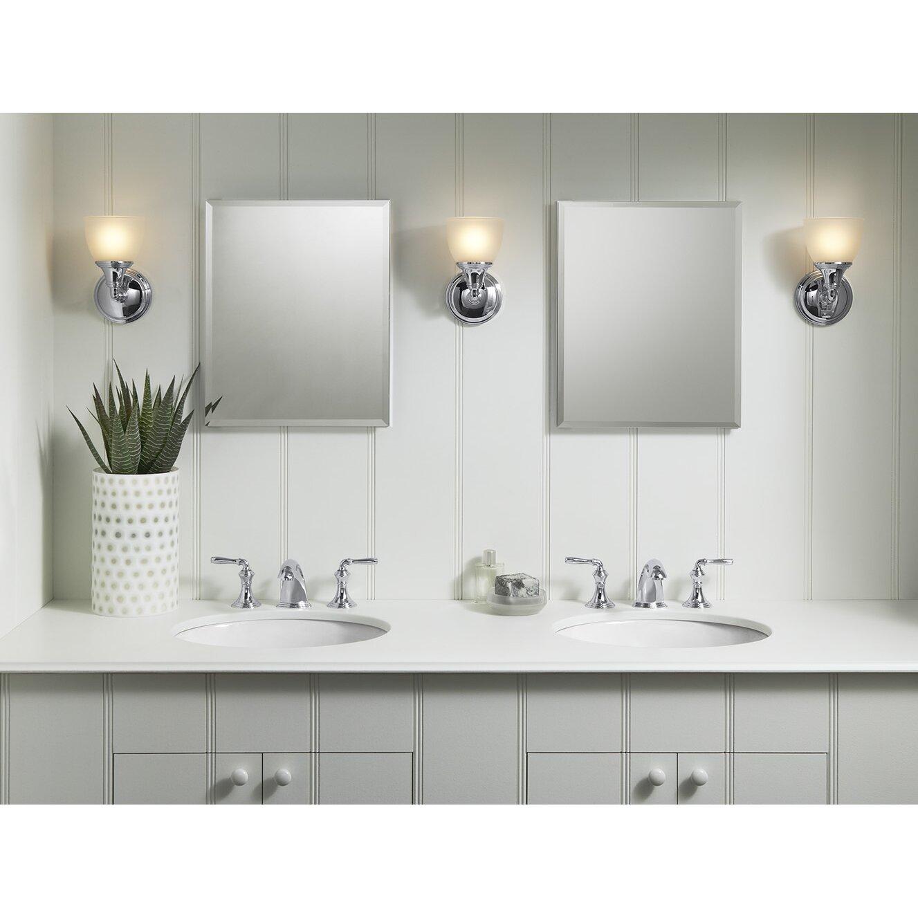bathroom recessed medicine cabinets kohler 16 quot x 20 quot aluminum mirrored medicine cabinet
