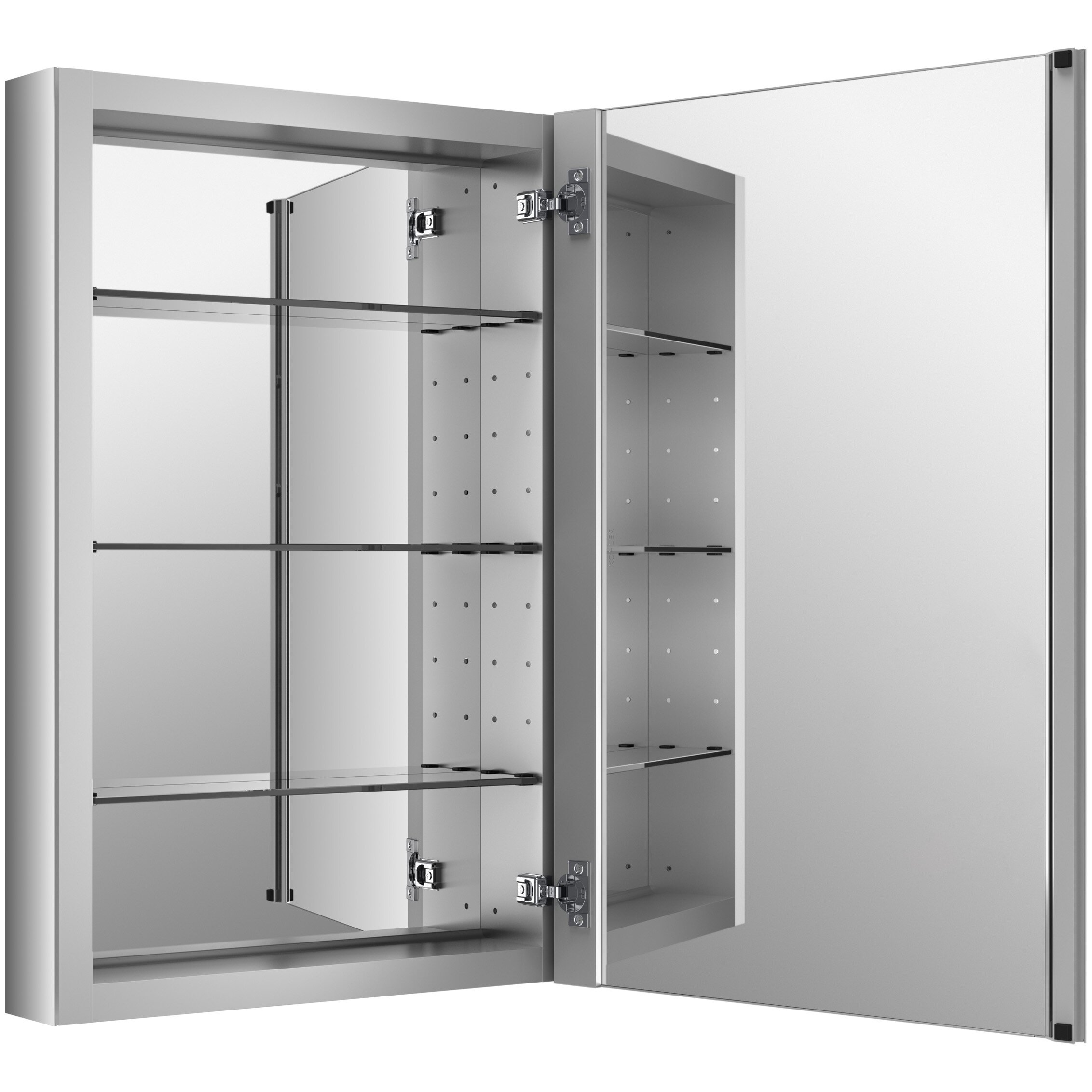 Horizontal Medicine Cabinet Kohler Verdera 20 X 30 Aluminum Medicine Cabinet Reviews Wayfair