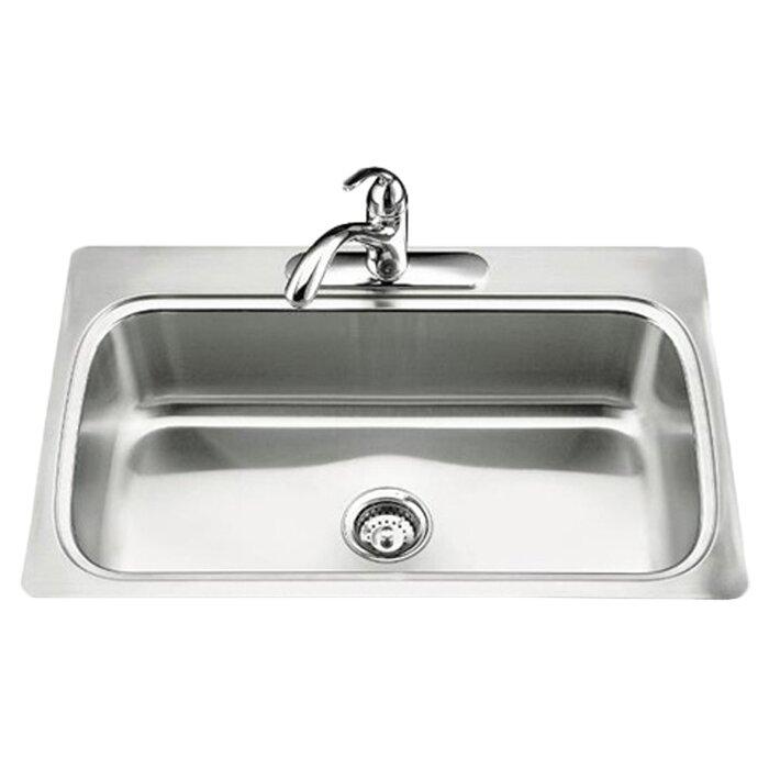 4 Top Mount Single Bowl Kitchen Sink
