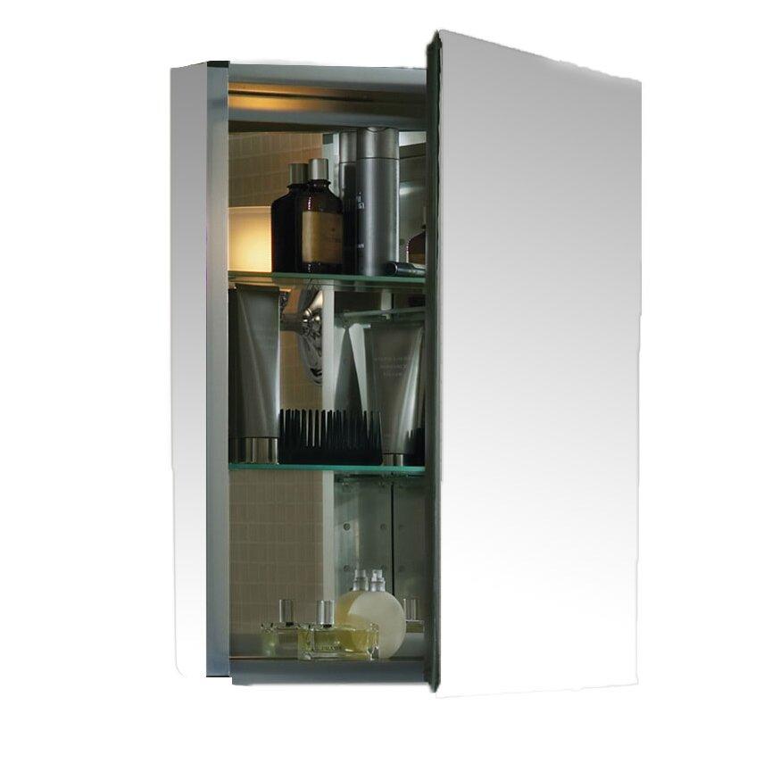 kohler 20 x 26 aluminum medicine cabinet with mirrored door