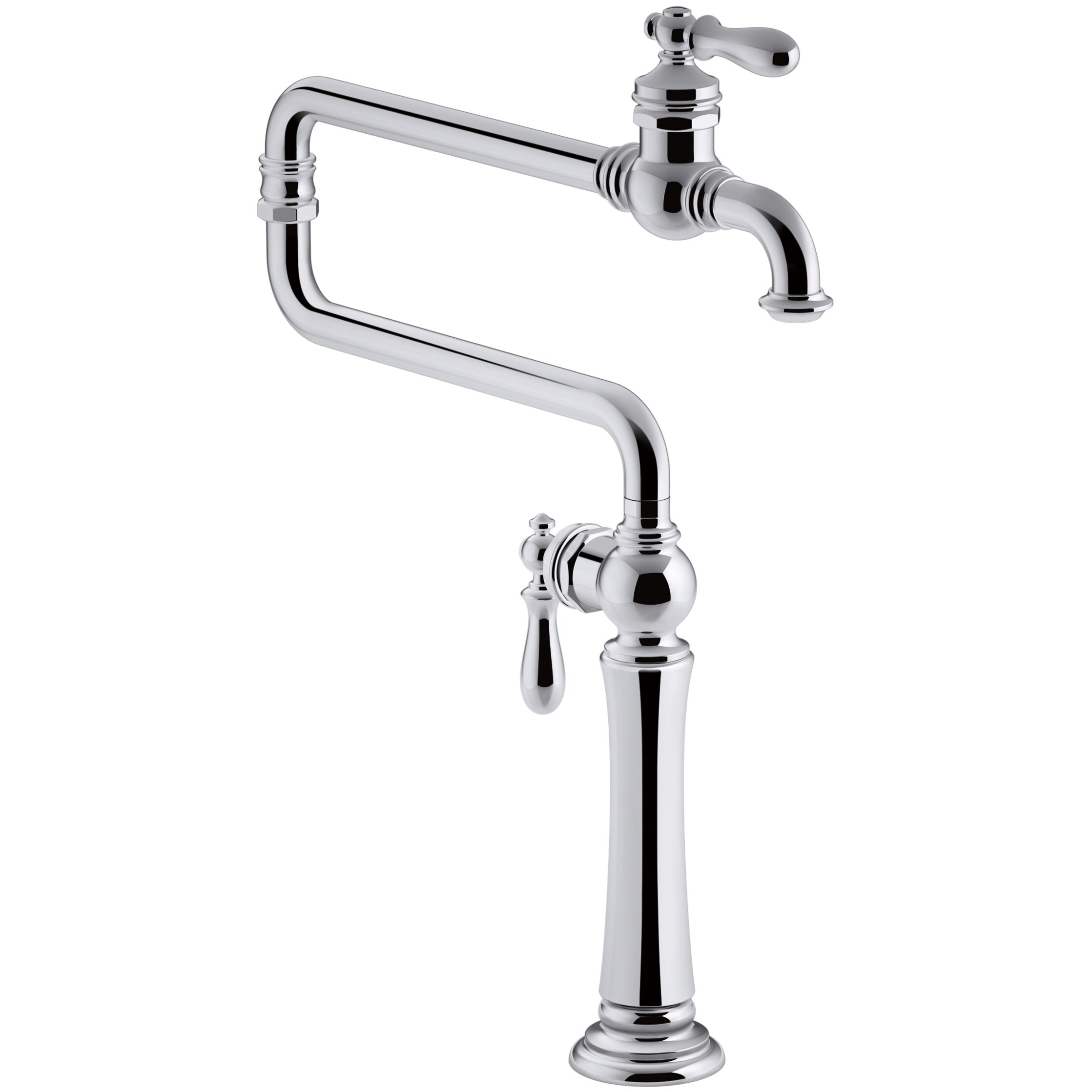 Pot Sink Faucet : Kohler Artifacts Single-Hole Deck-Mount Pot Filler Kitchen Sink Faucet ...