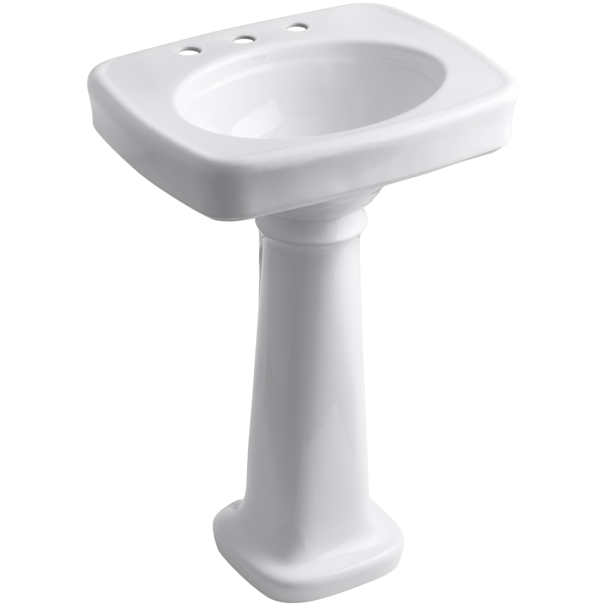 Kohler Bancroft 24 quot  Pedestal Bathroom Sink. Kohler Bancroft 24  Pedestal Bathroom Sink   Reviews   Wayfair