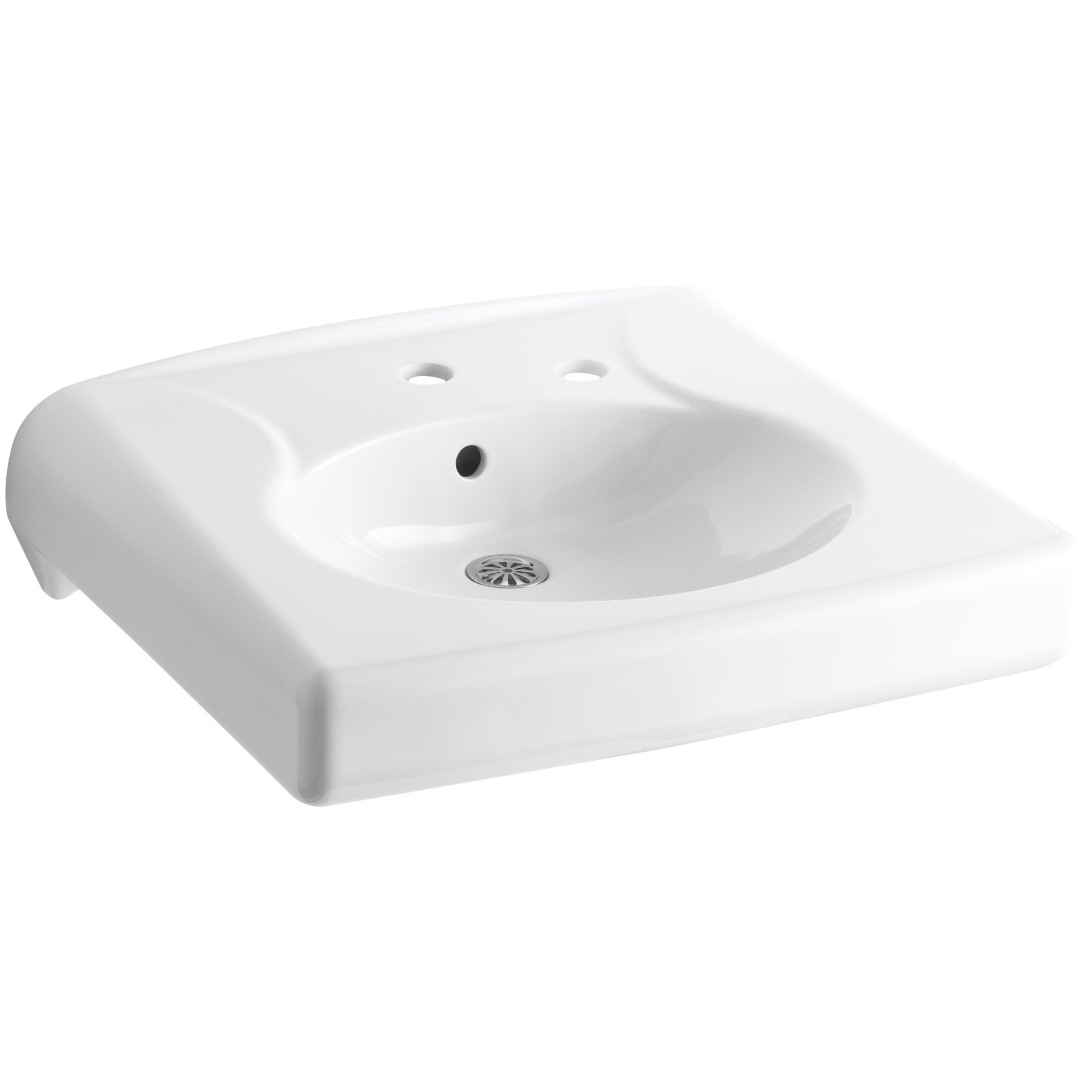 Kohler Brenham Wall Mounted Or Concealed Carrier Arm Mounted Commercial Bathroom Sink With