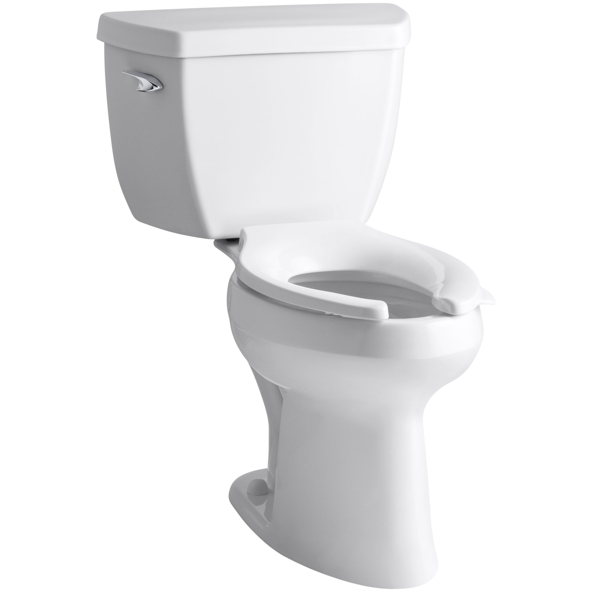 10 inch rough in toilet - Highline Classic Comfort Height Two Piece Elongated 1 6 Gpf Toilet With Pressure Lite Flush Technology