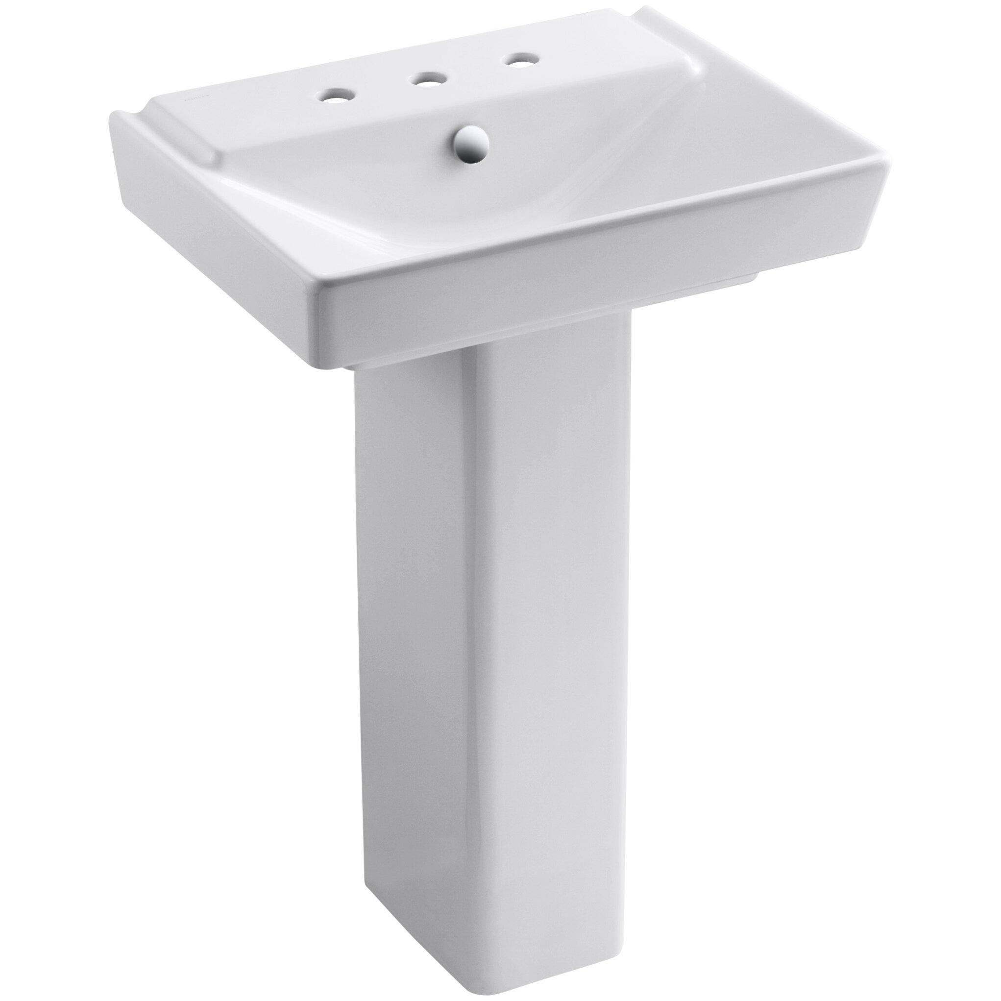 "Kohler Reve 36"" Pedestal Bathroom Sink & Reviews | Wayfair - Kohler Reve 36"" Pedestal Bathroom Sink"