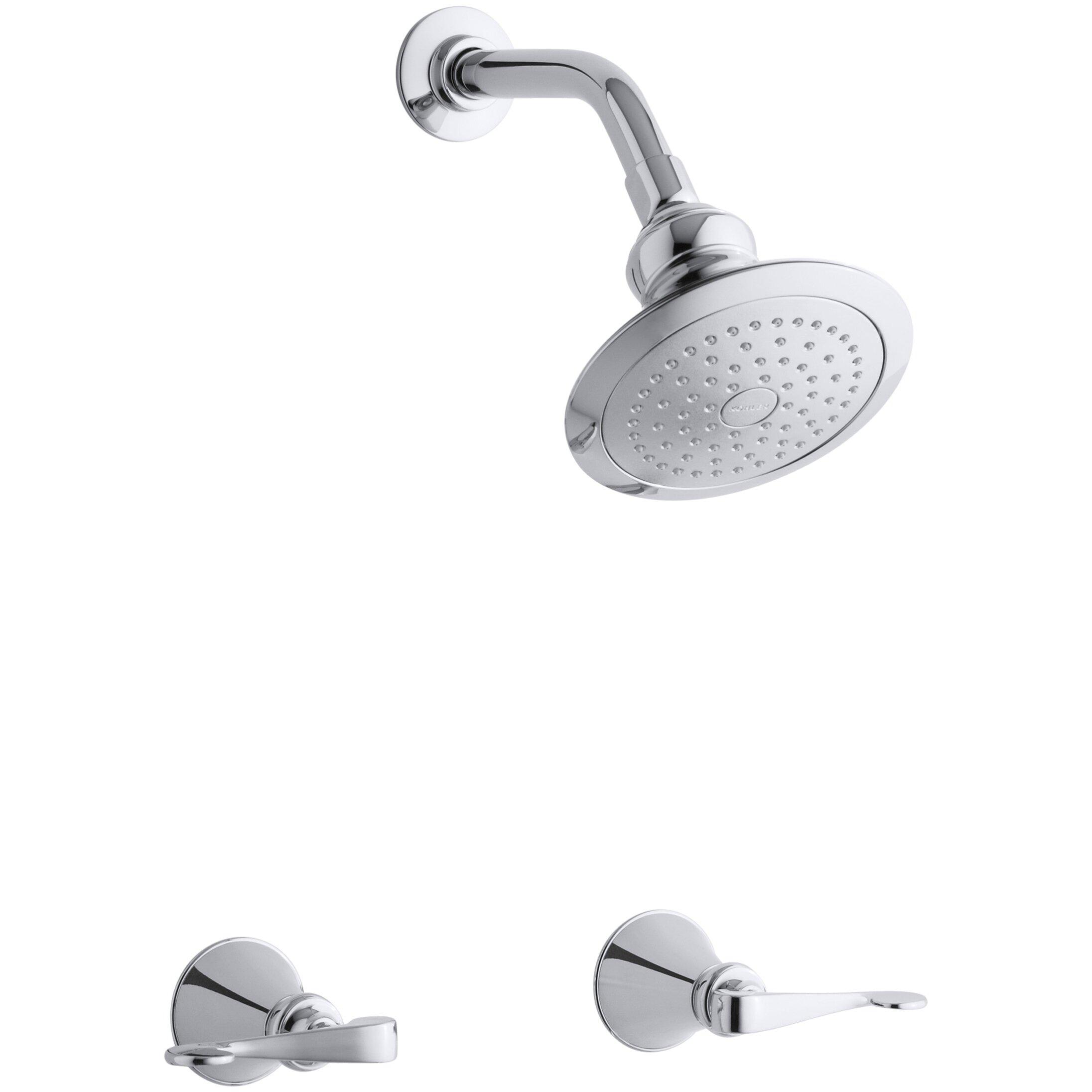 Kohler Revival Kitchen Faucet Kohler Revival Shower Faucet Set With Scroll Lever Handles And