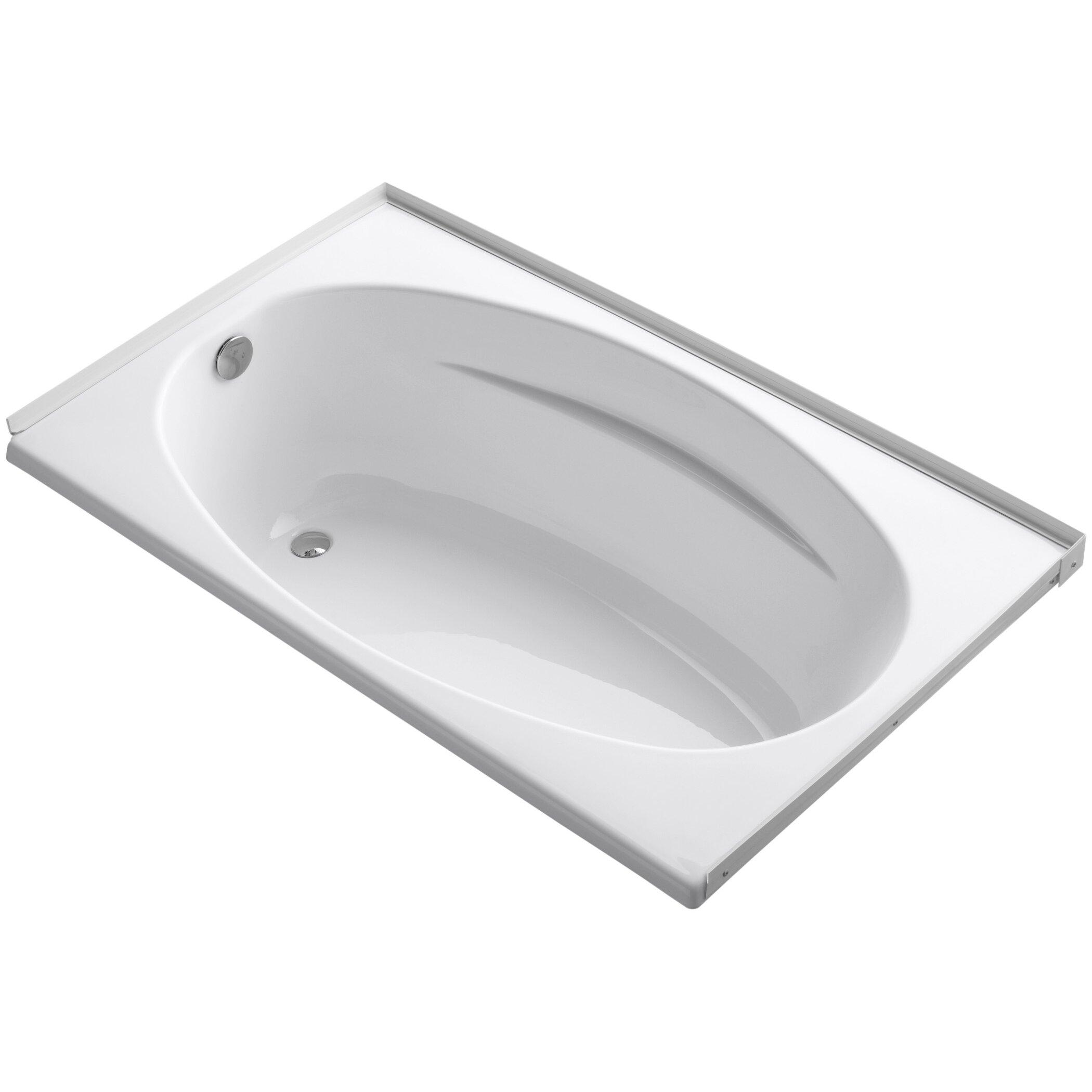 Alcove  X  Soaking Bathtub AllModern - Freestanding tub end drain