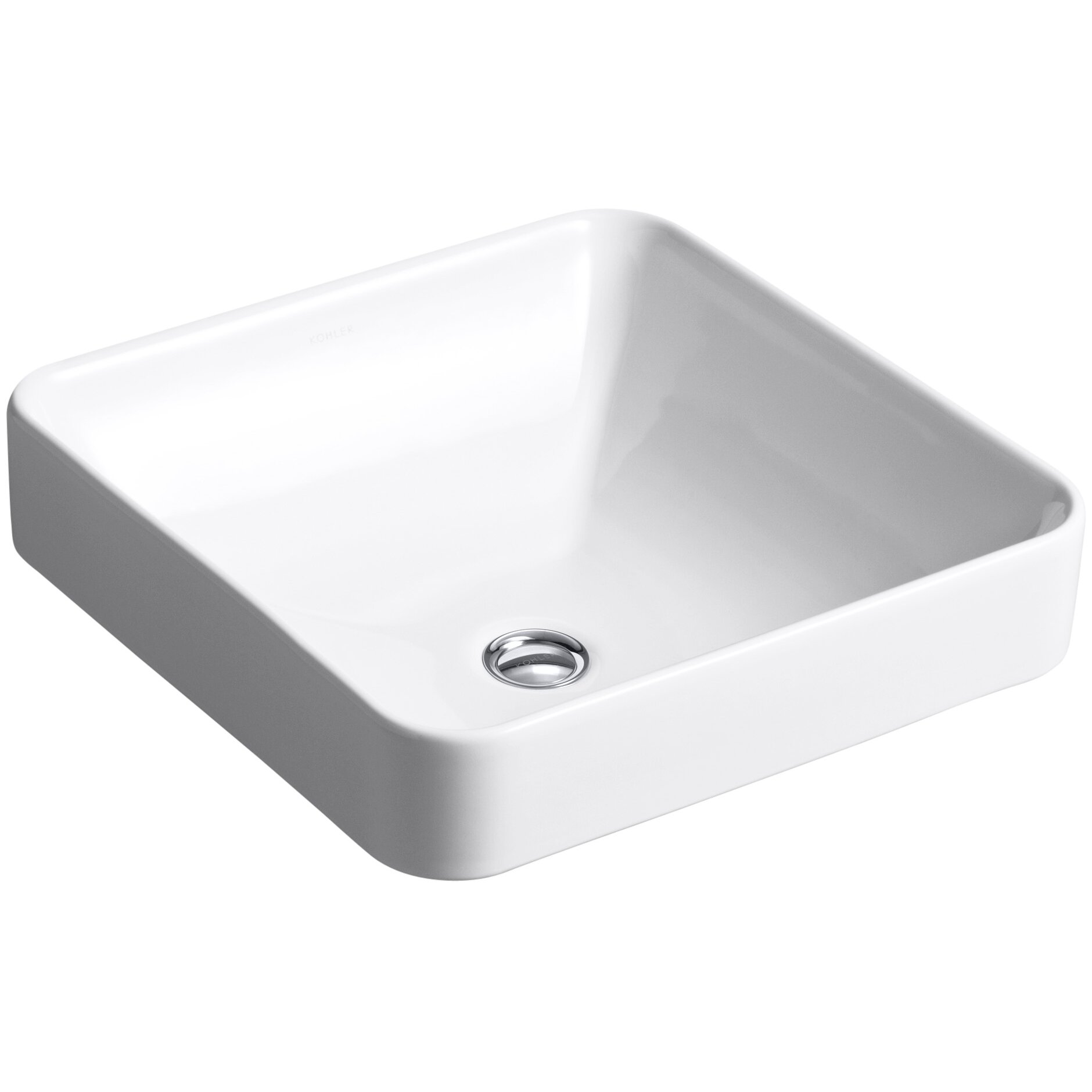 Square bathroom sinks - Kohler Vox Square Vessel Above Counter Bathroom Sink