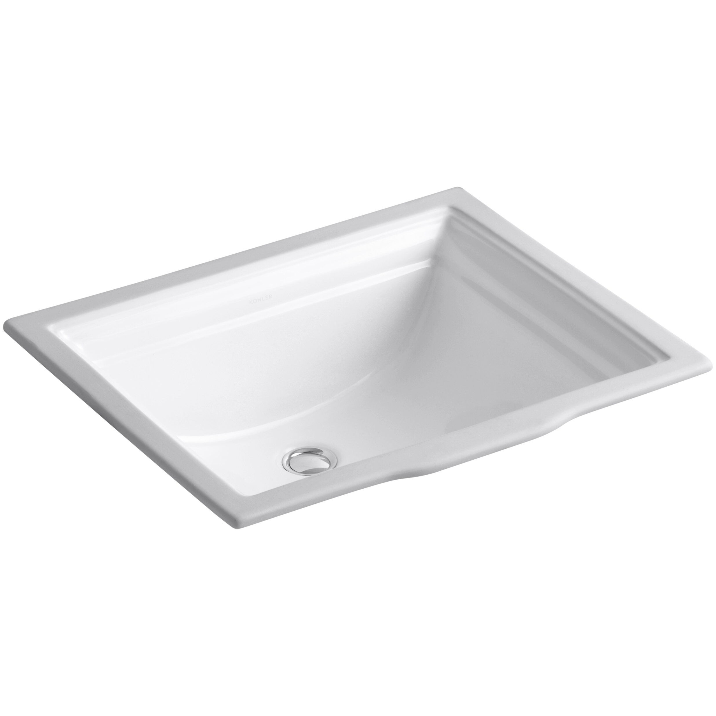 memoirs rectangular undermount bathroom sink with overflow