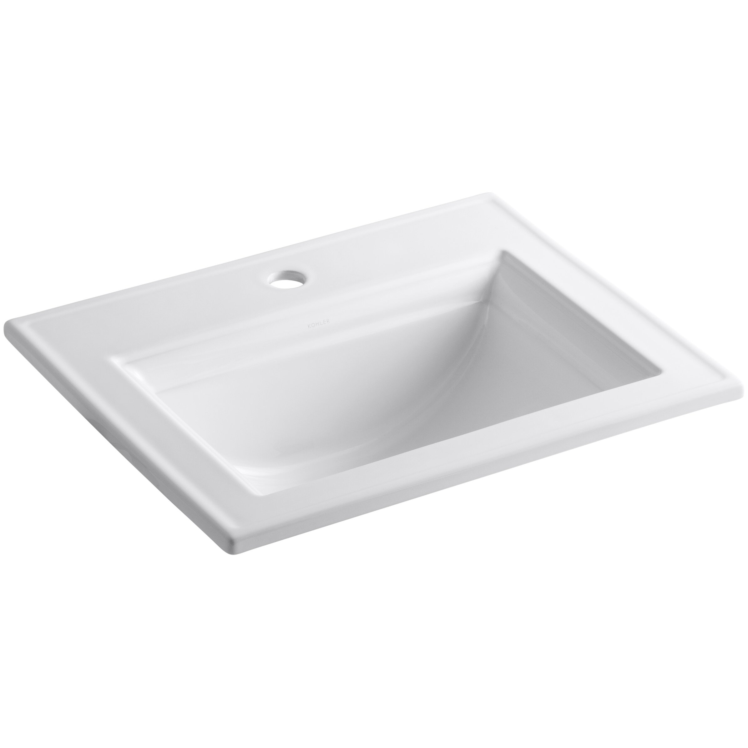 drop in bathroom sink with single faucet hole reviews wayfair