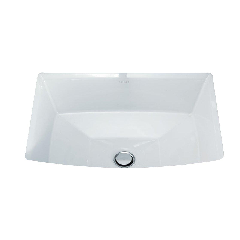 Kohler archer rectangular undermount bathroom sink - Kohler rectangular bathroom sinks ...