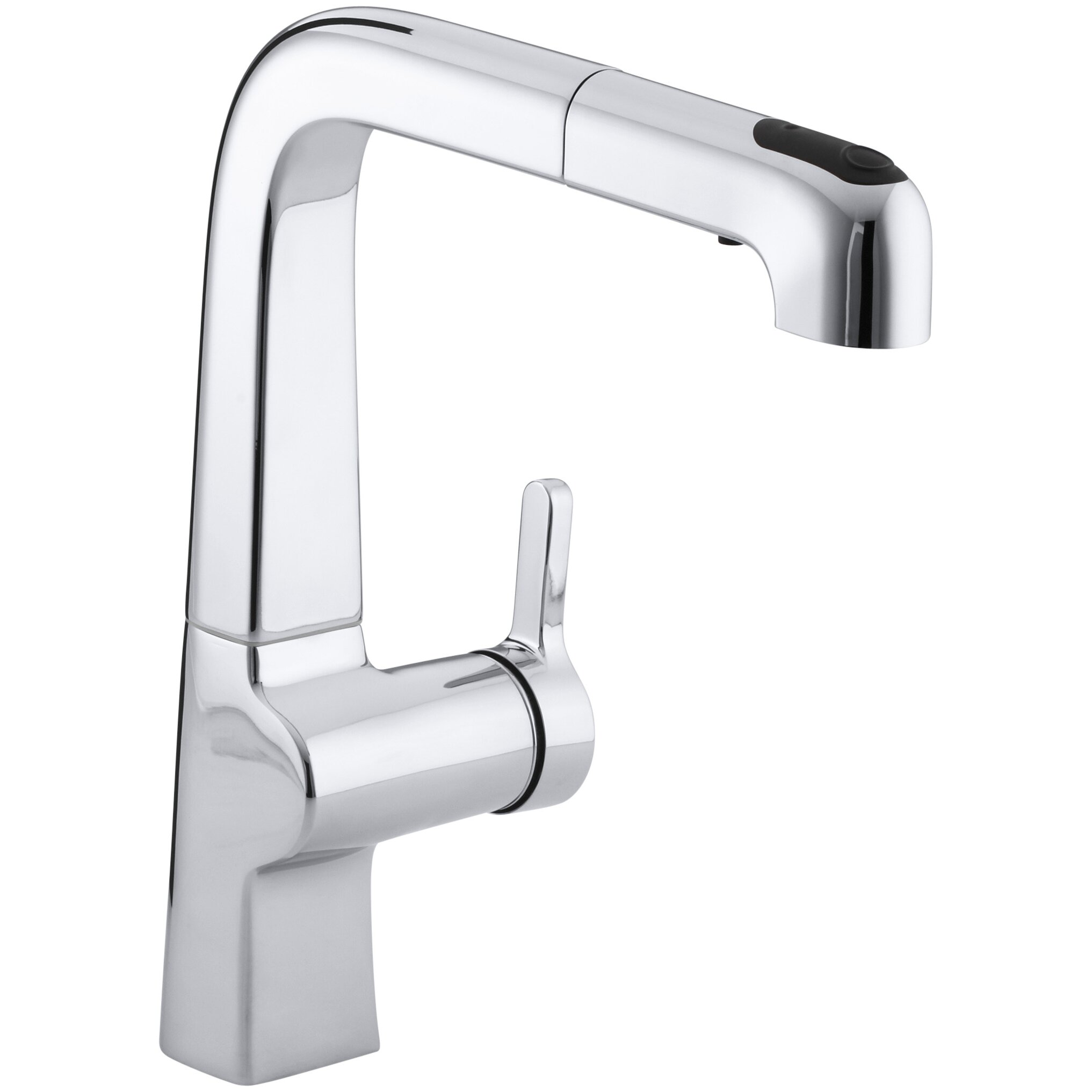 Kitchen Pull Out Faucet Kohler Evoke Single Hole Kitchen Sink Faucet With 9 Pullout Spout