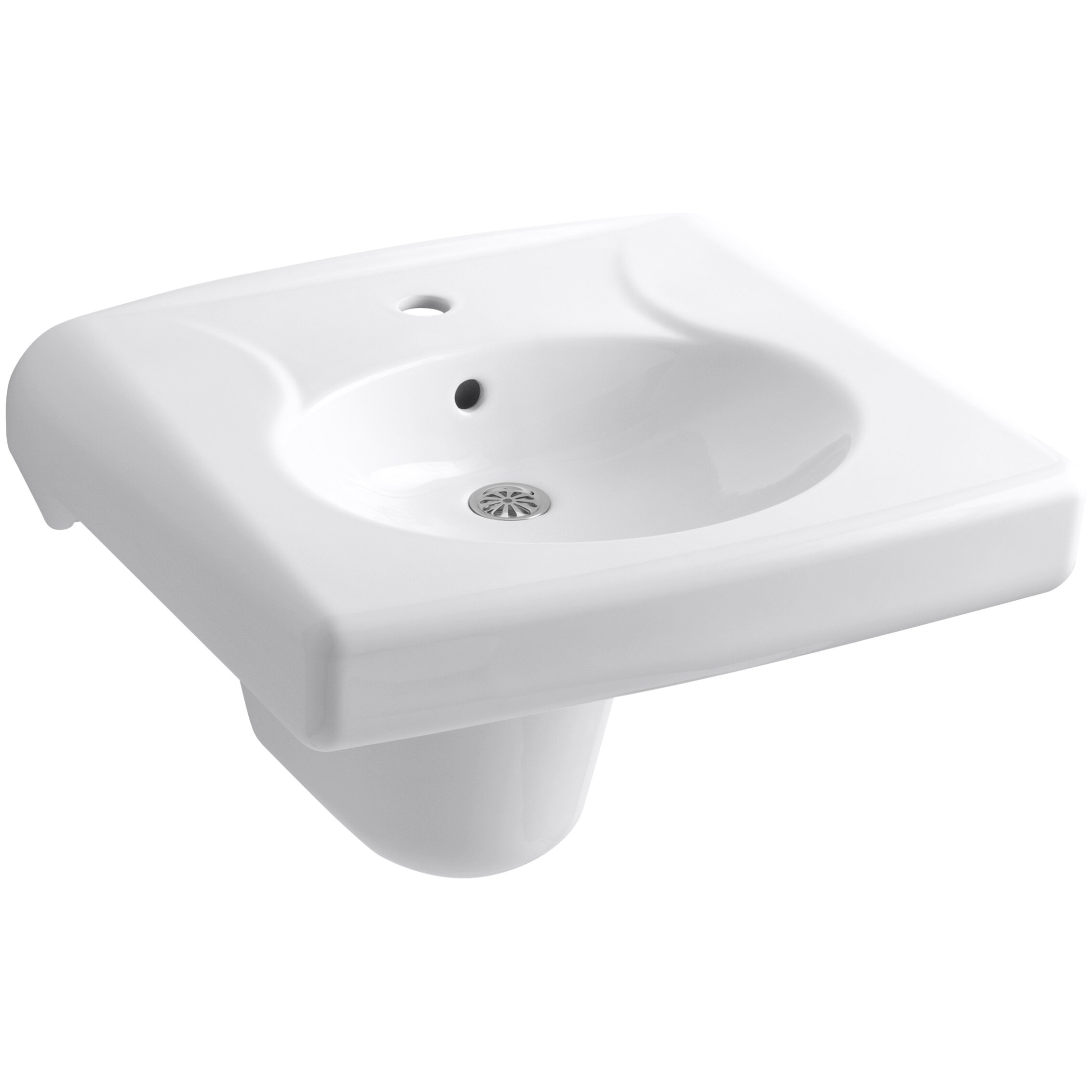Wall Mounted Or Concealed Carrier Arm Mounted Commercial Bathroom Sink