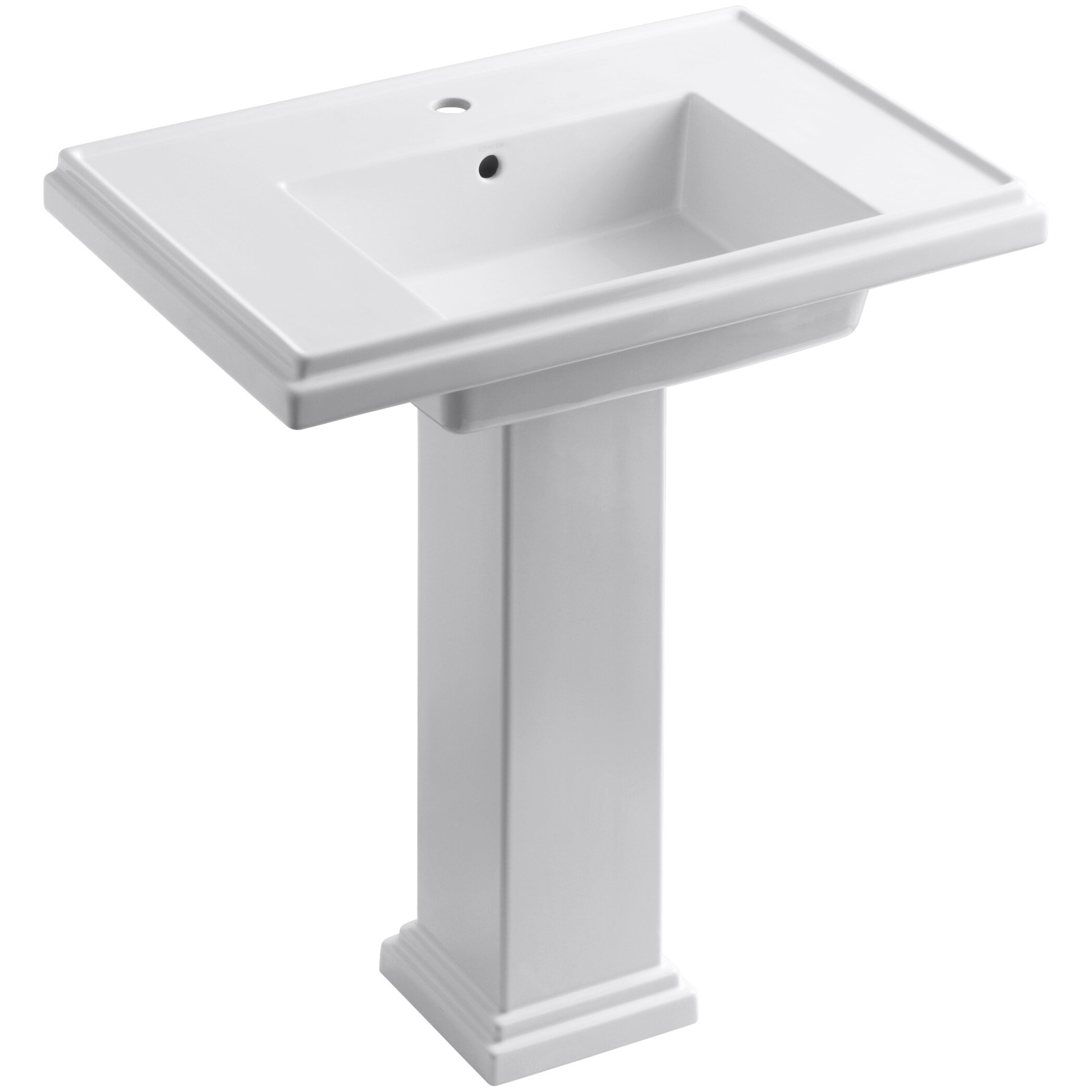 kohler sinks bathroom kohler tresham 30 quot pedestal bathroom sink amp reviews wayfair 13390