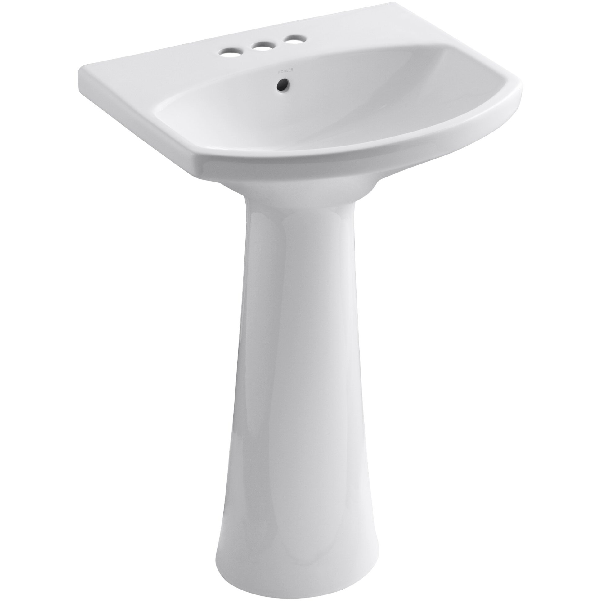 ... Pedestal Commercial Bathroom Sinks Kohler Part #: K-2362-8 SKU
