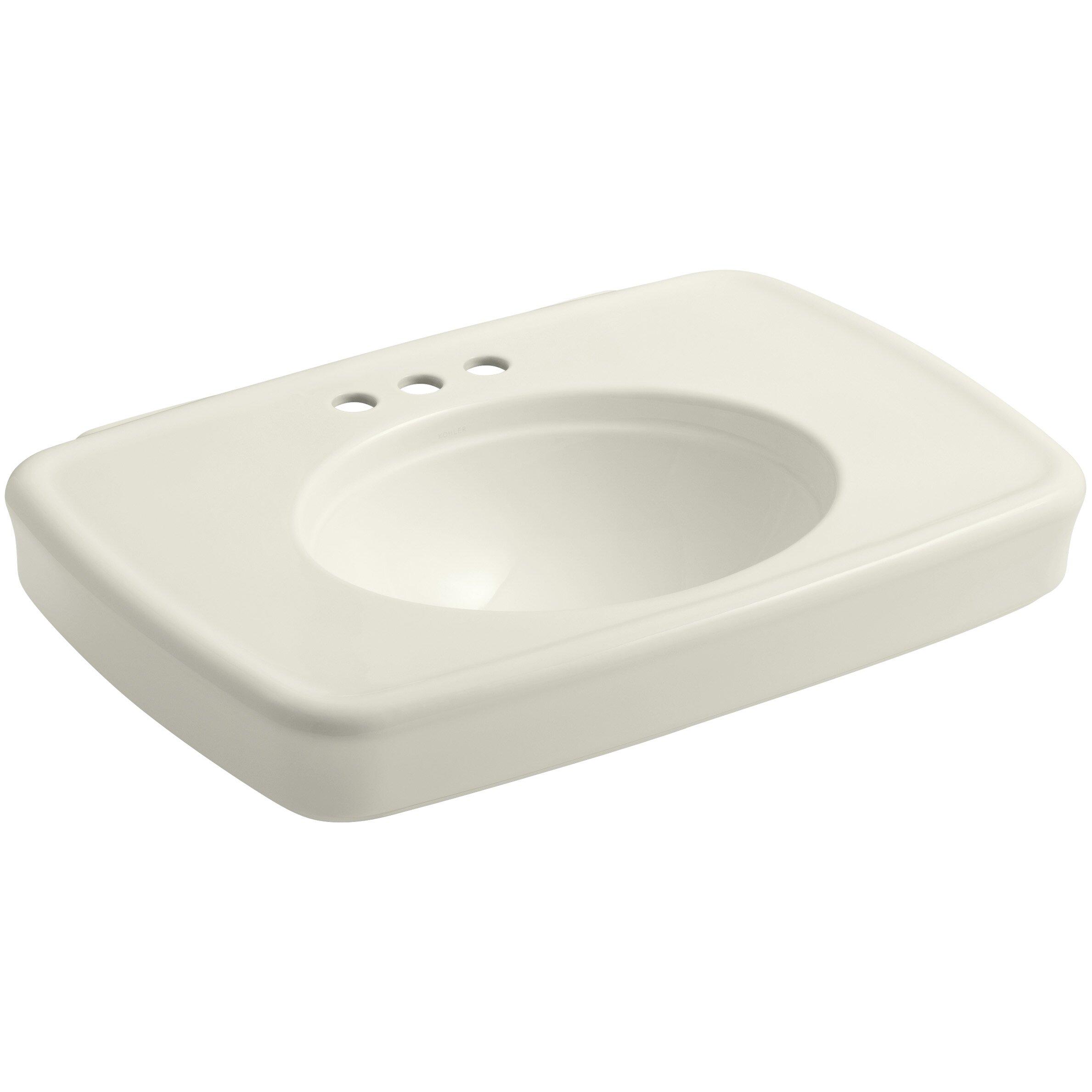 Kohler Bancroft 30 Bathroom Sink With 4 Centerset Faucet Holes Wayfair
