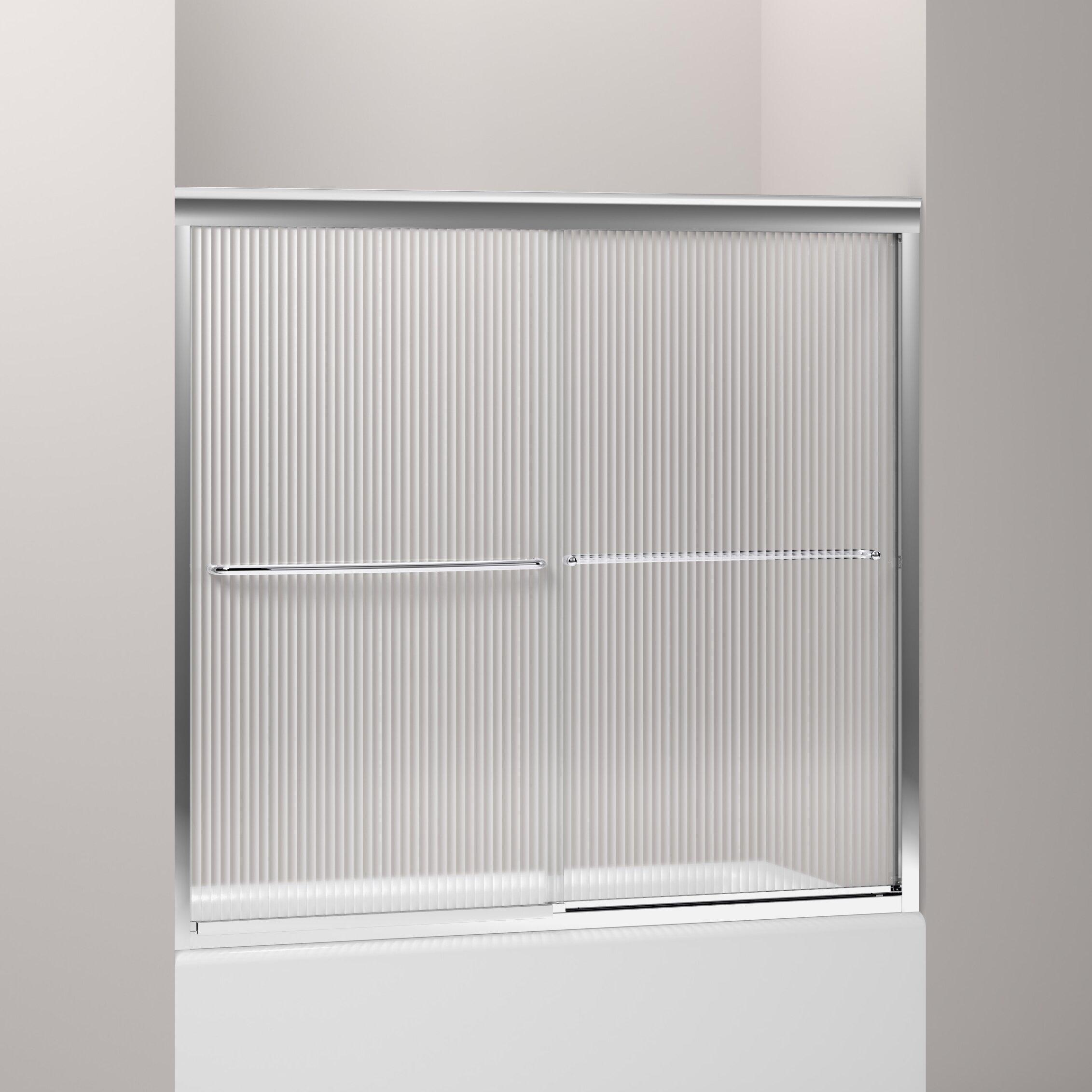 Fluence 57 x bypass bath door reviews allmodern for Door 55 reviews