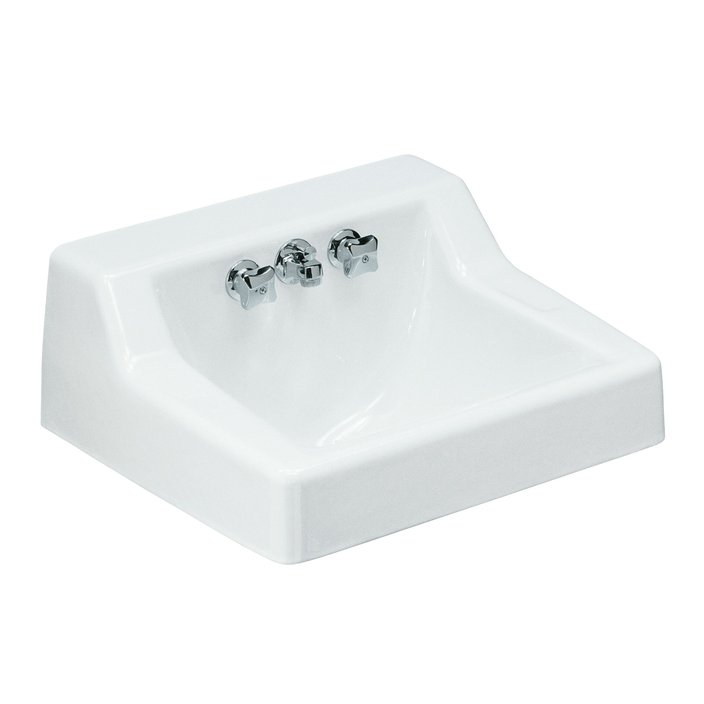 Kohler Hampton Wall Mounted Commercial Bathroom Sink With Factory Installed Faucet 22 X 19