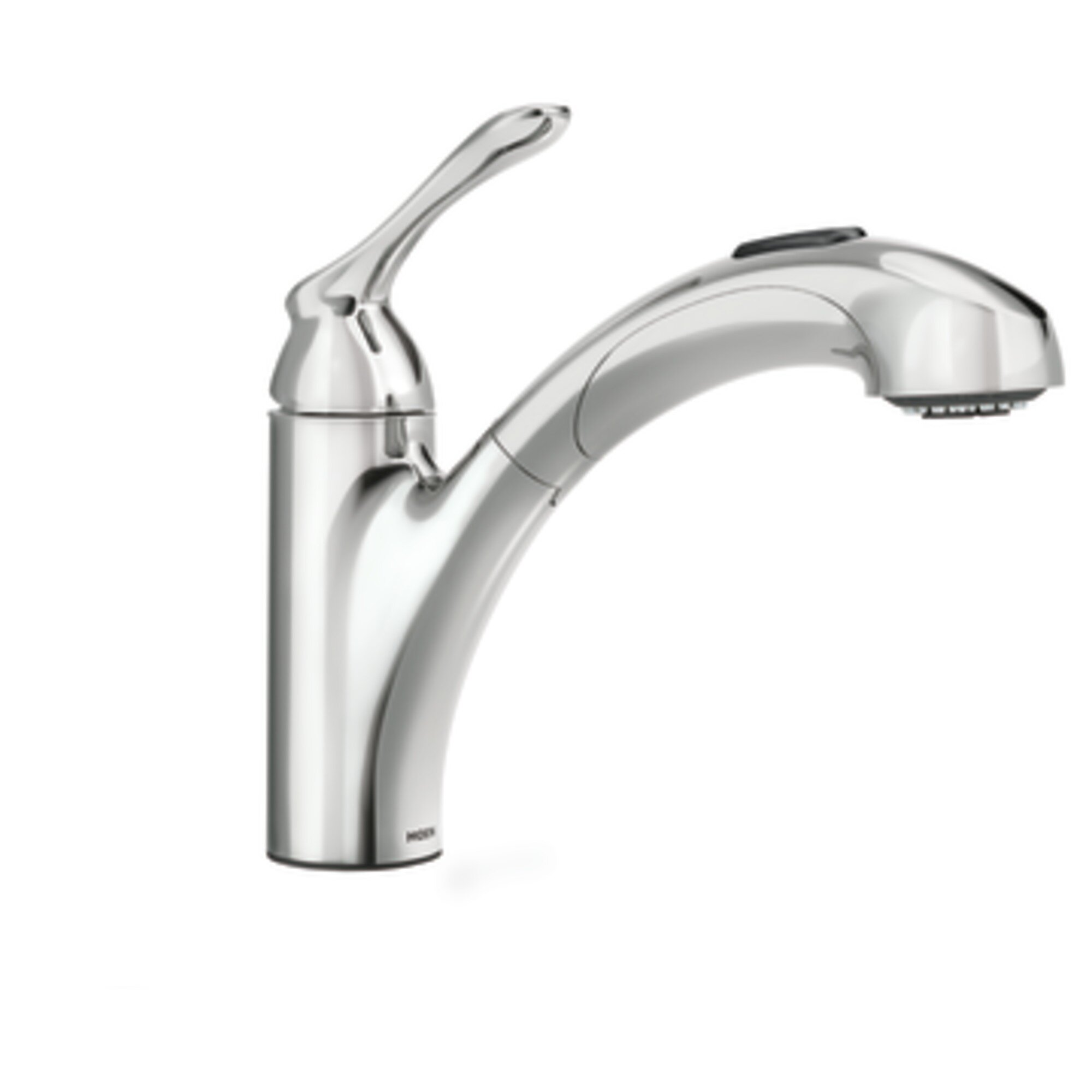 marvelous Kitchen Faucet Hard To Swivel #5: Moen Banbury Single Handle Deck Mounted Kitchen Faucet Reviews