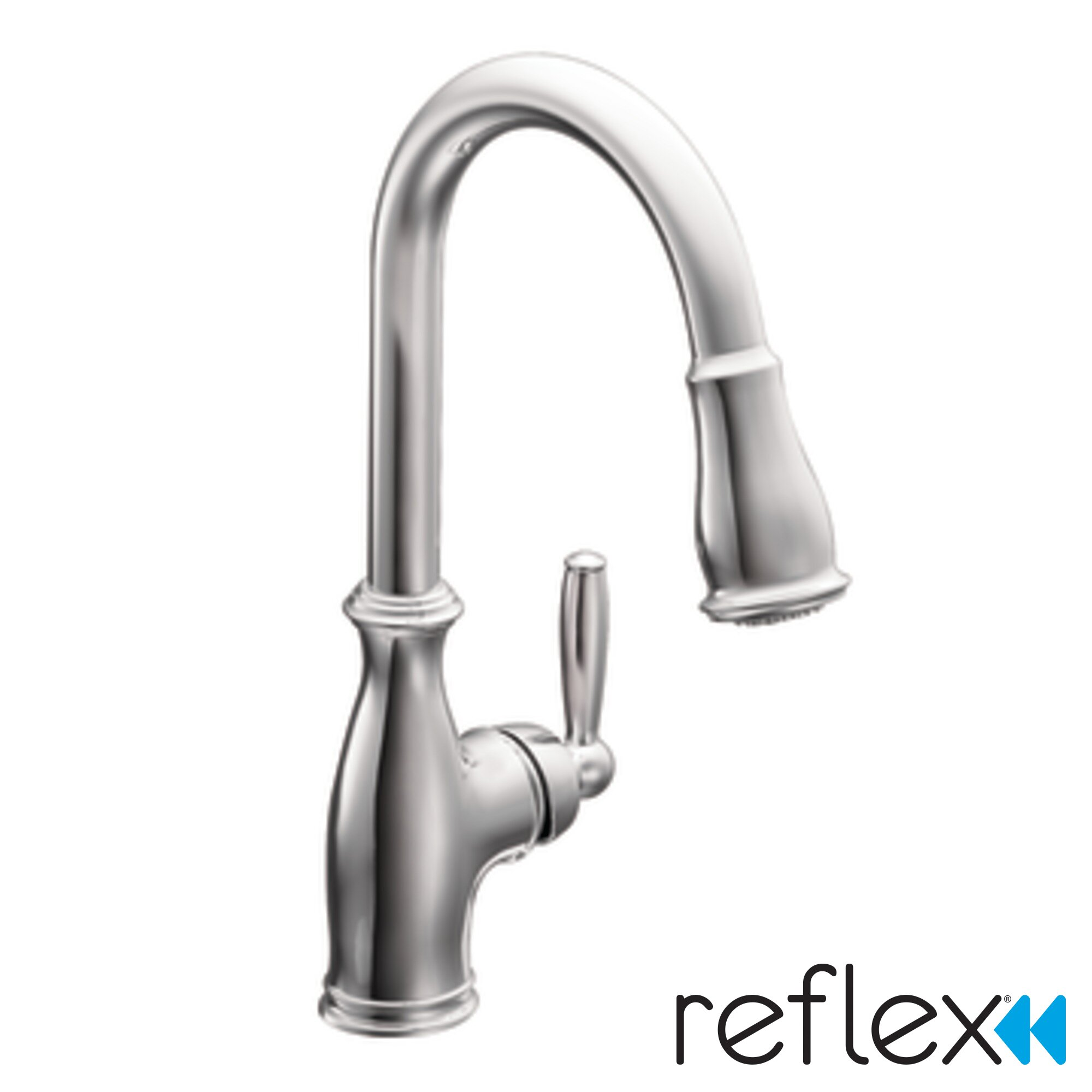 Reviews Kitchen Faucets Moen Brantford Single Handle Kitchen Faucet Reviews Wayfair