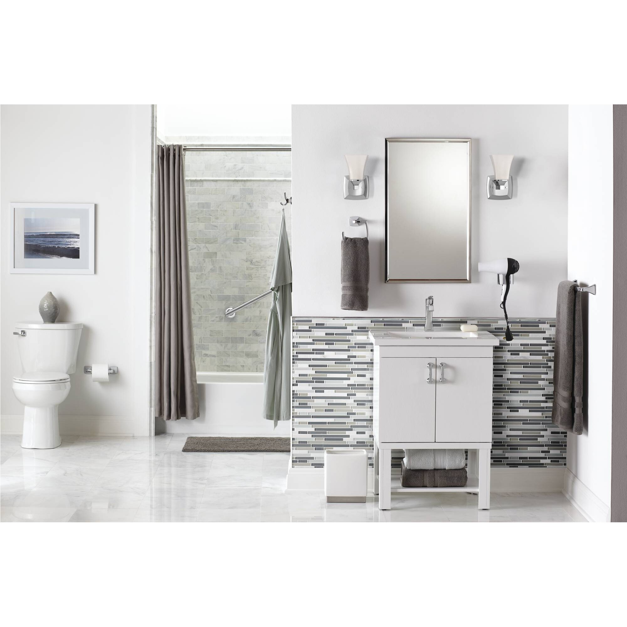 Voss bathroom furniture - Moen Voss 1 Light Bath Sconce Amp Reviews Wayfair