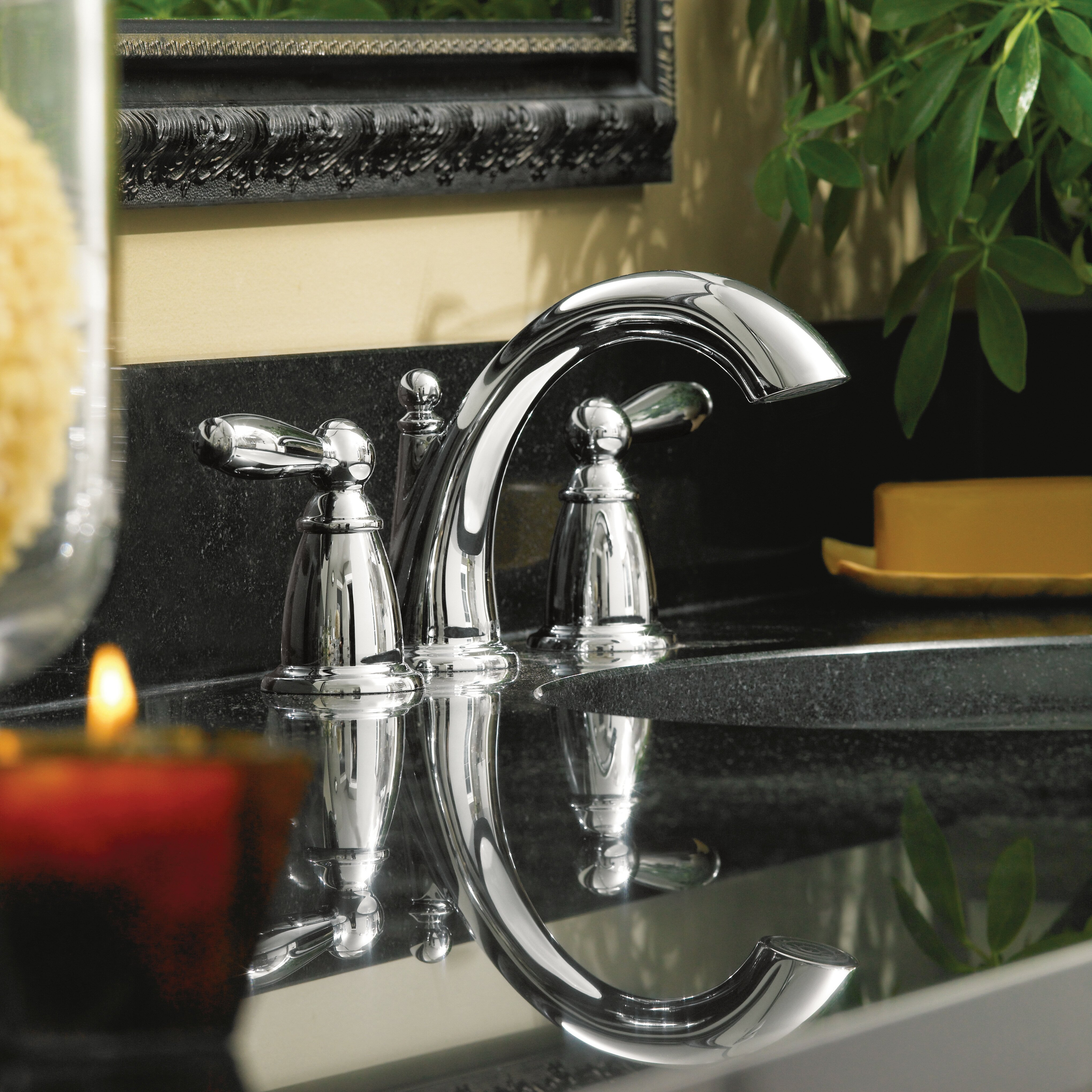 Moen Brantford Double Handle Widespread Standard Bathroom Faucet with Drain Assembly