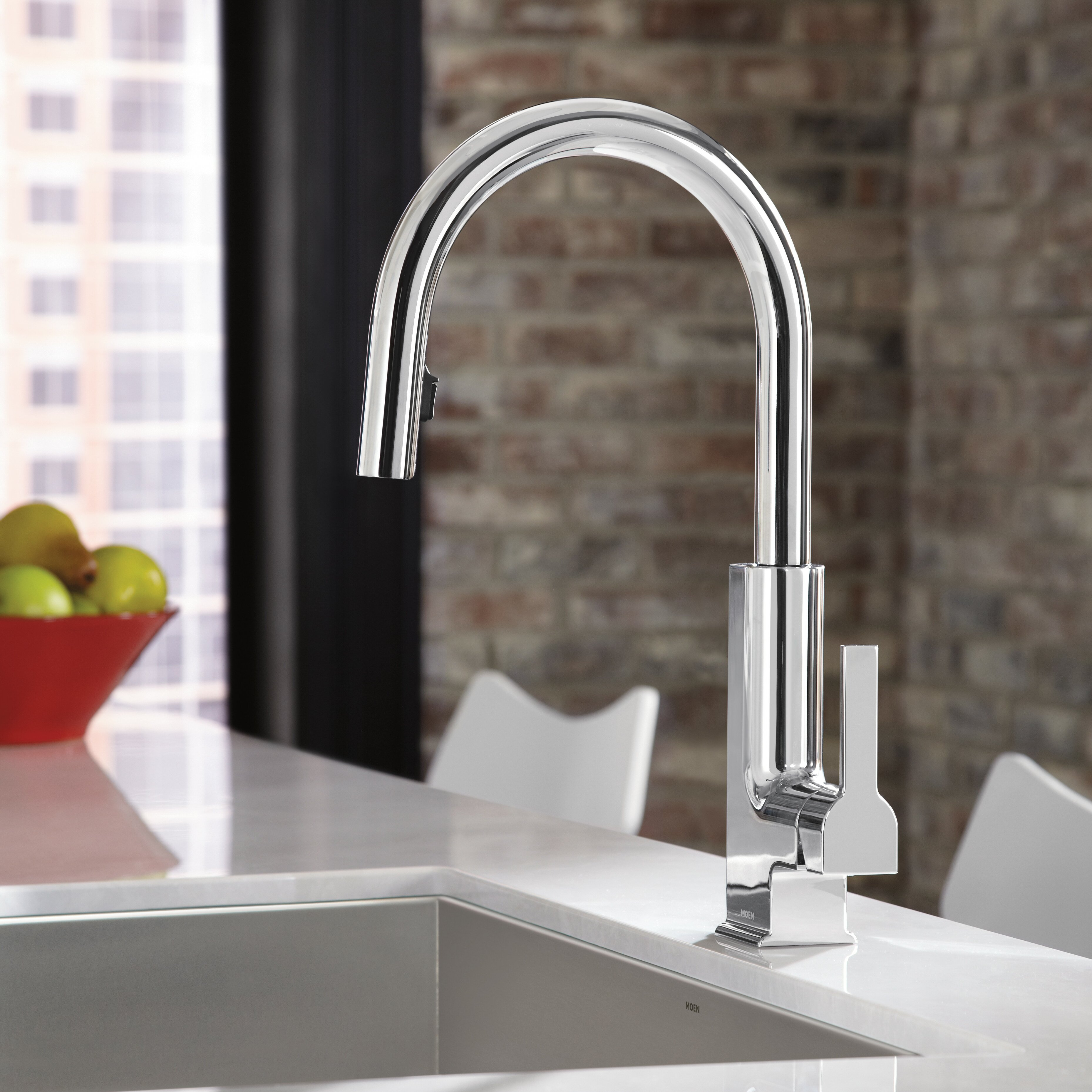 Moen Touchless Kitchen Faucet Moen Sto Single Handle Pull Down Kitchen Faucet Reviews Wayfair