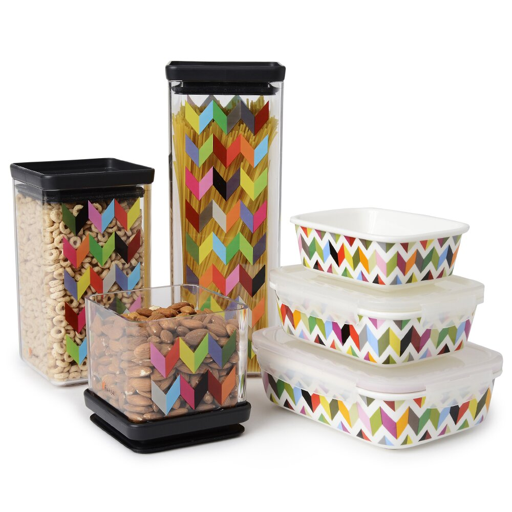 Airtight Storage Cabinet French Bull Ziggy Airtight Food Storage 3 Piece Kitchen Canister