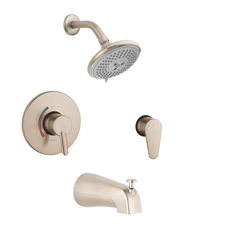 hansgrohe focus s hg pressure balance tub and shower faucet hansgrohe focus s hg pressure balance tub and shower faucet lever handle