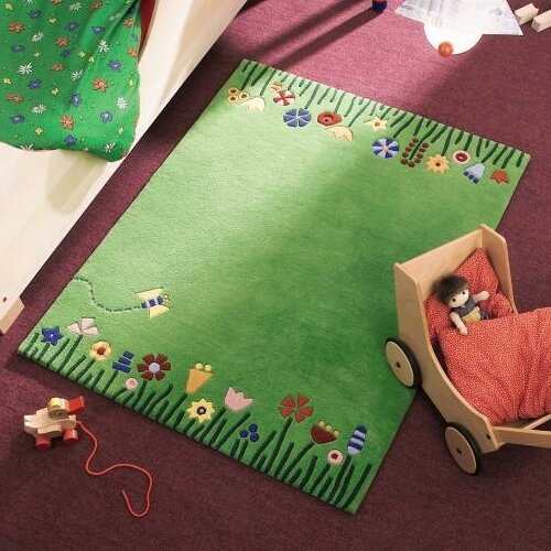 Haba Meadow Green Area Rug & Reviews  Wayfair