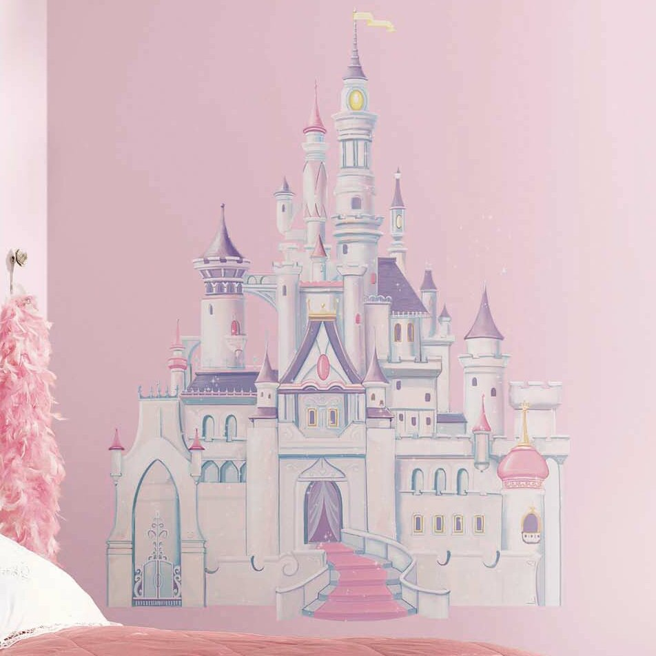 Disney princess castle wall stickers gallery home wall princess wall decals roselawnlutheran room mates disney princess castle wall decal amipublicfo gallery amipublicfo Gallery