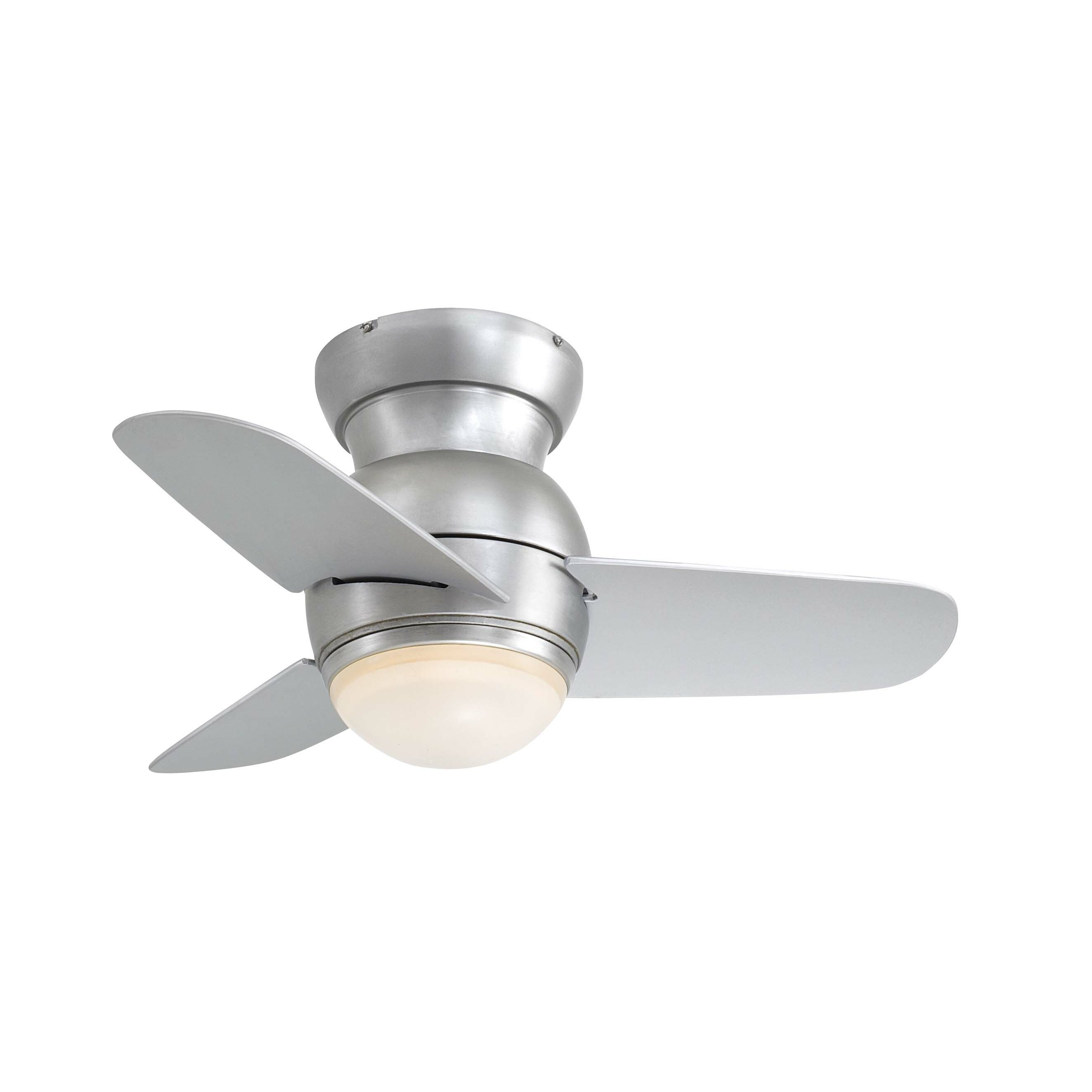 Minka Aire 26 Spacesaver Flush Mount 3 Blade Ceiling Fan
