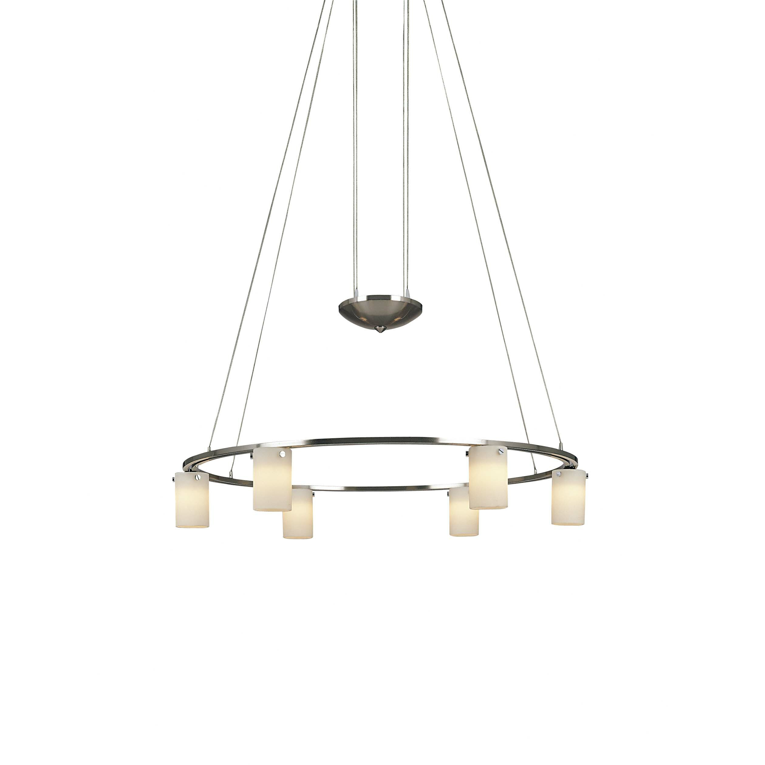 George Kovacs Counter Weights 6Light Shaded Chandelier Reviews – George Kovacs Chandelier