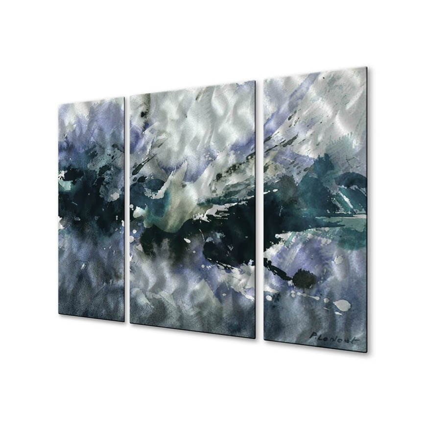 All my walls 39 passion 39 by pol ledent 3 piece painting print plaque set wayfair - Paint for exterior walls set ...