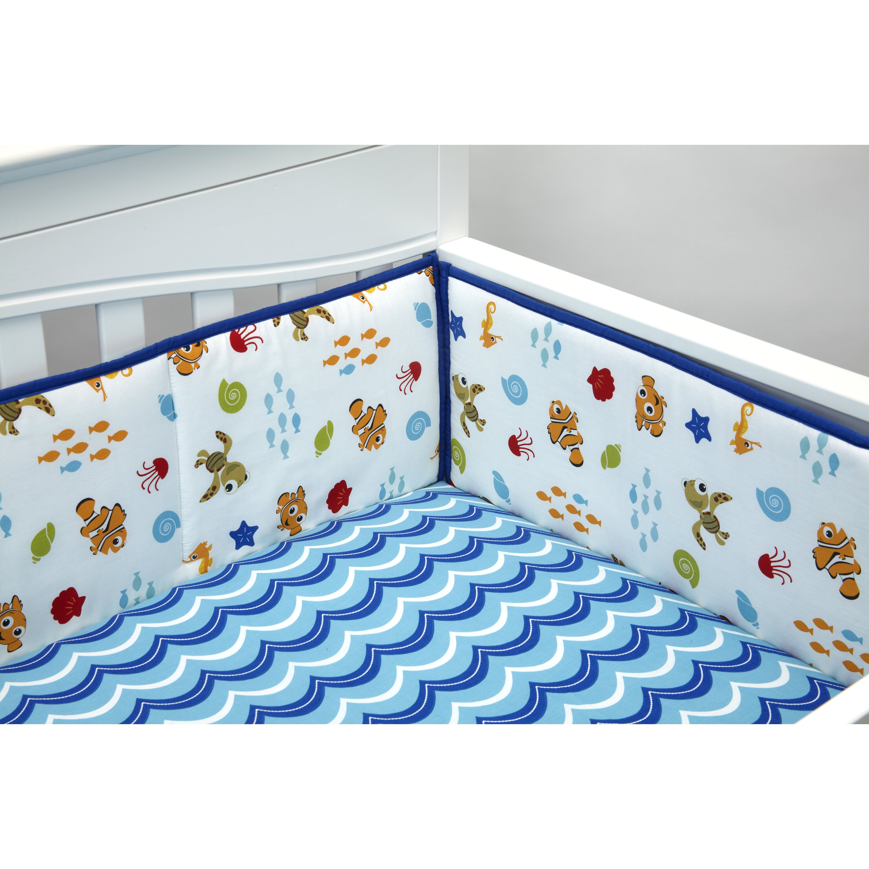 Gocrib adventure crib for sale - Disney Baby Nemo S Wavy Days Crib Bumper