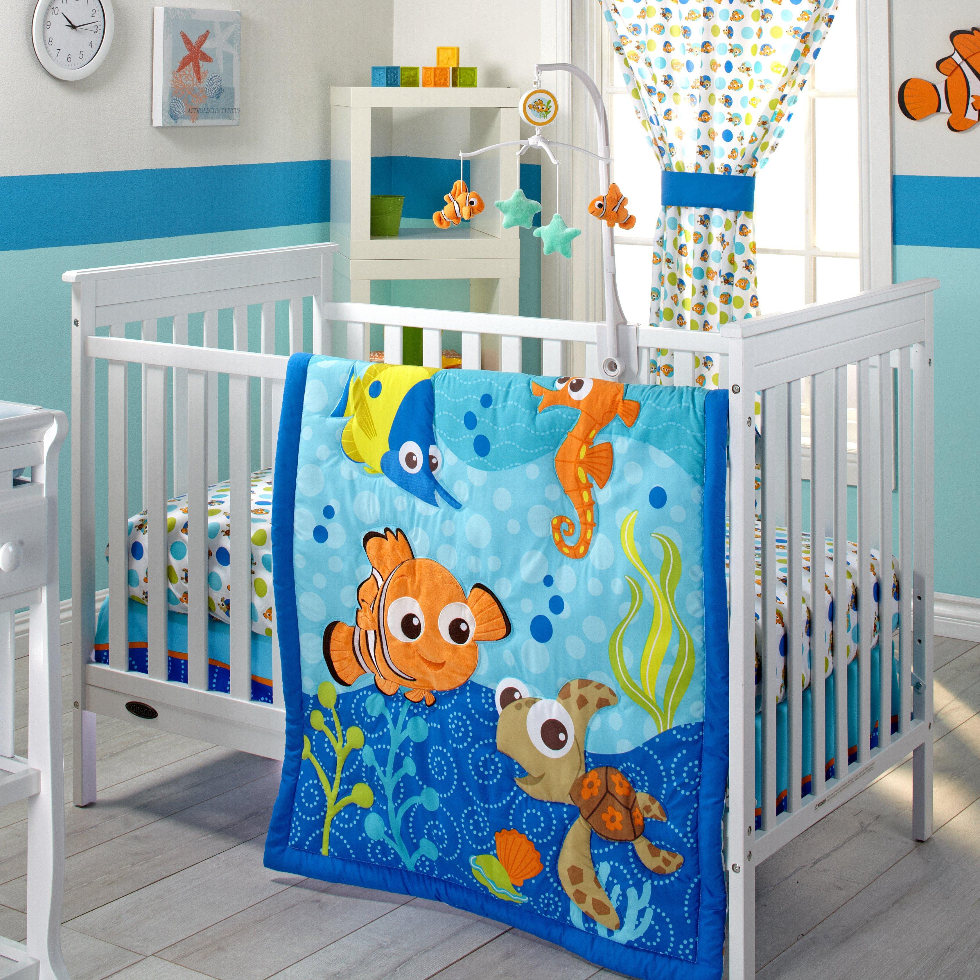 Baby cribs bedding sets - Disney Baby Nemo 3 Piece Crib Bedding Set