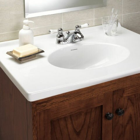 American Standard Hampton Centerset Bathroom Faucet With Double Porcelain Lever Handles