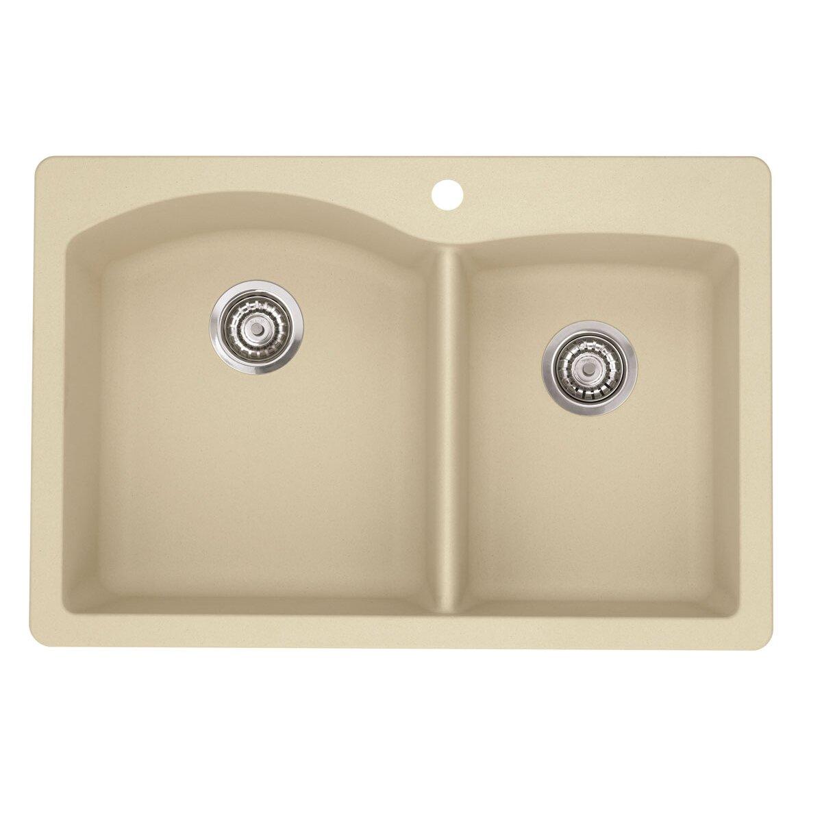 Blanco Kitchen Faucet Reviews Blanco Diamond 33 X 22 Bowl Drop In Kitchen Sink Reviews Wayfair