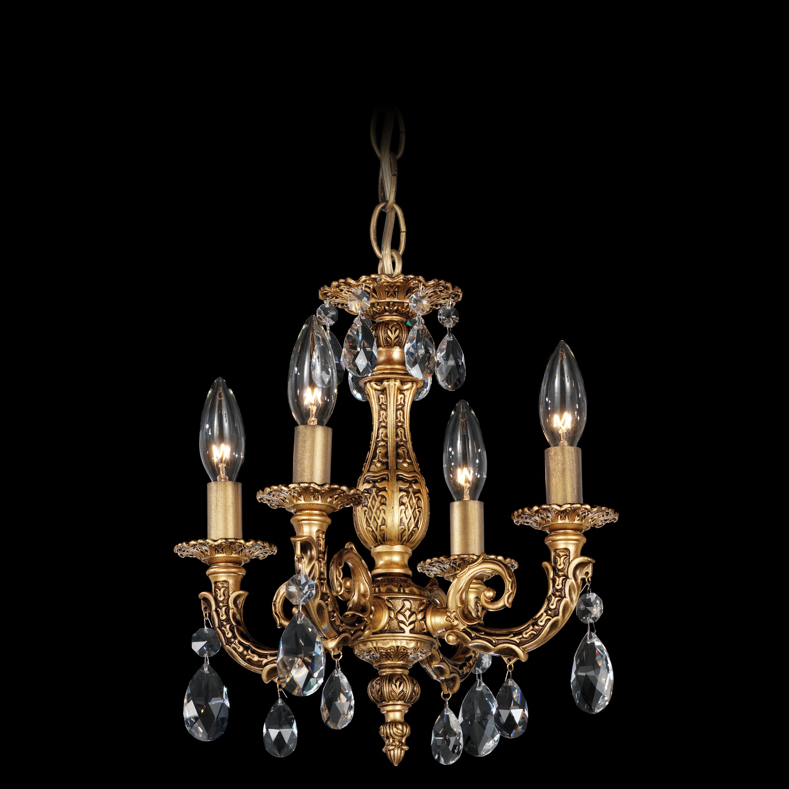 Schonbek Chandelier Wayfair: Schonbek Milano 4-Light Candle-Style Chandelier & Reviews