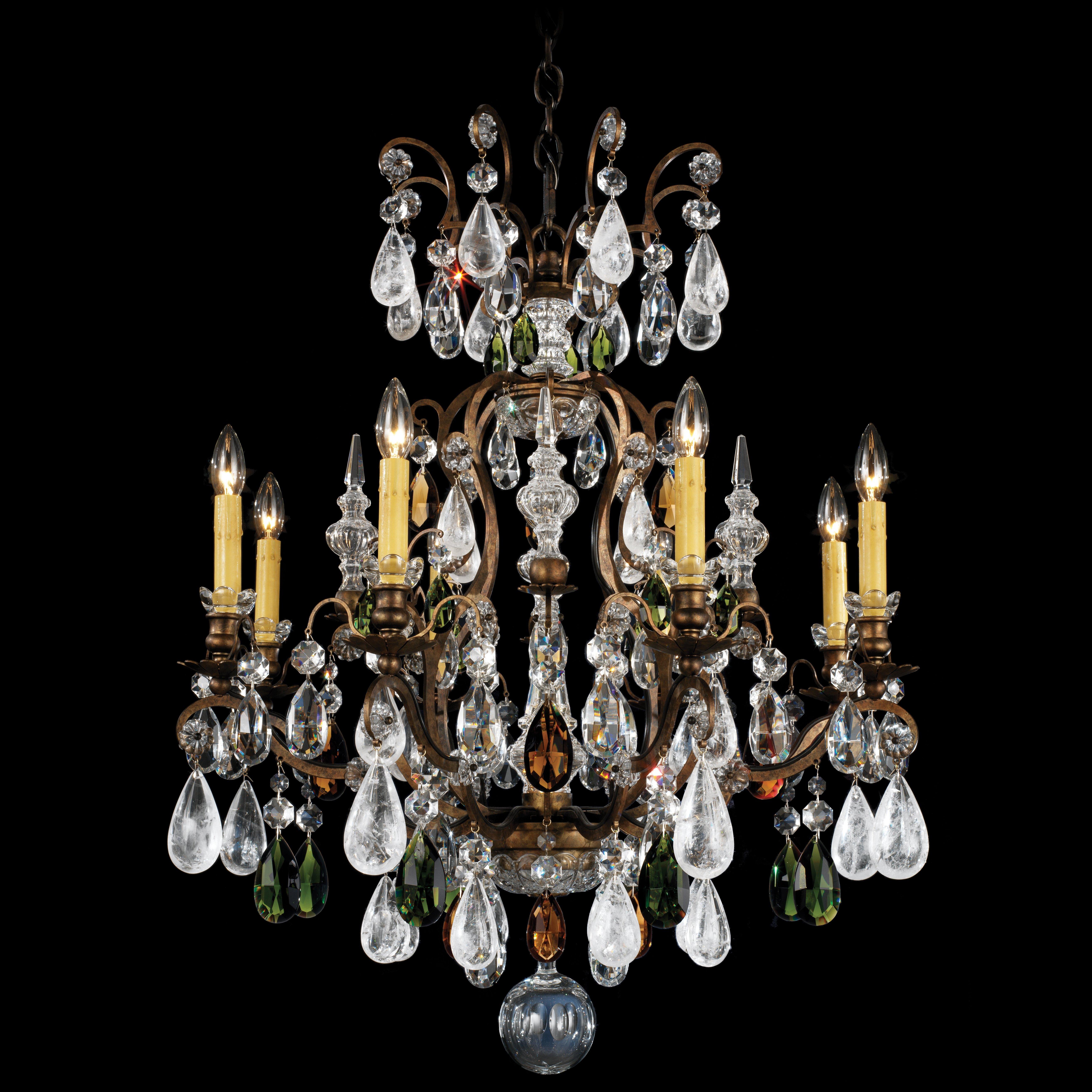 Schonbek Chandelier Wayfair: Schonbek Renaissance Rock 8-Light Crystal Chandelier