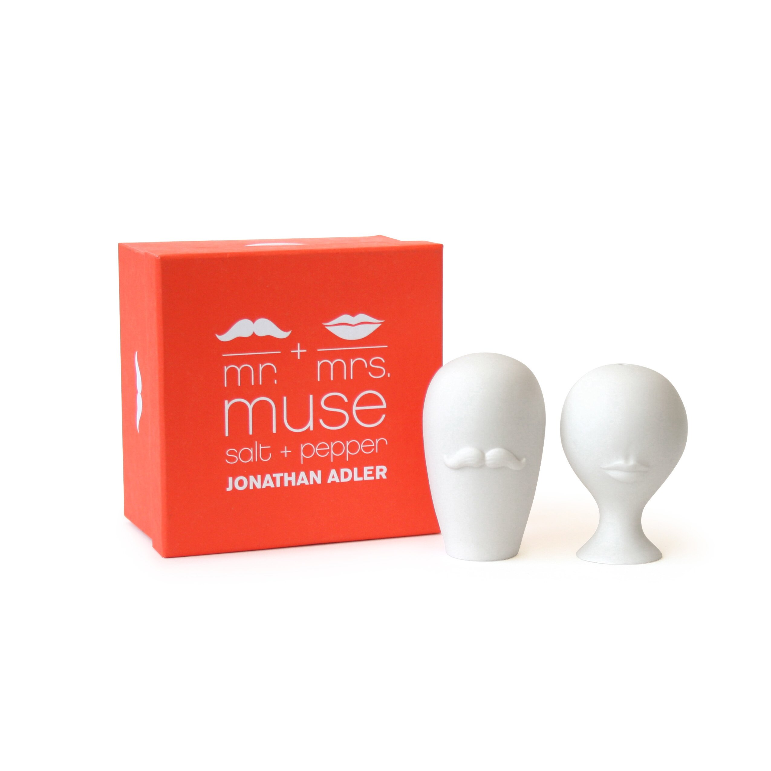 Mr and mrs muse salt pepper shaker reviews allmodern - Jonathan adler salt and pepper ...