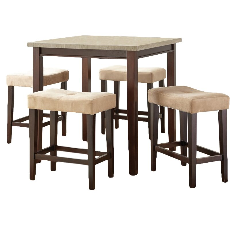 Steve Silver Furniture Aberdeen 5 Piece Counter Height Dining Set