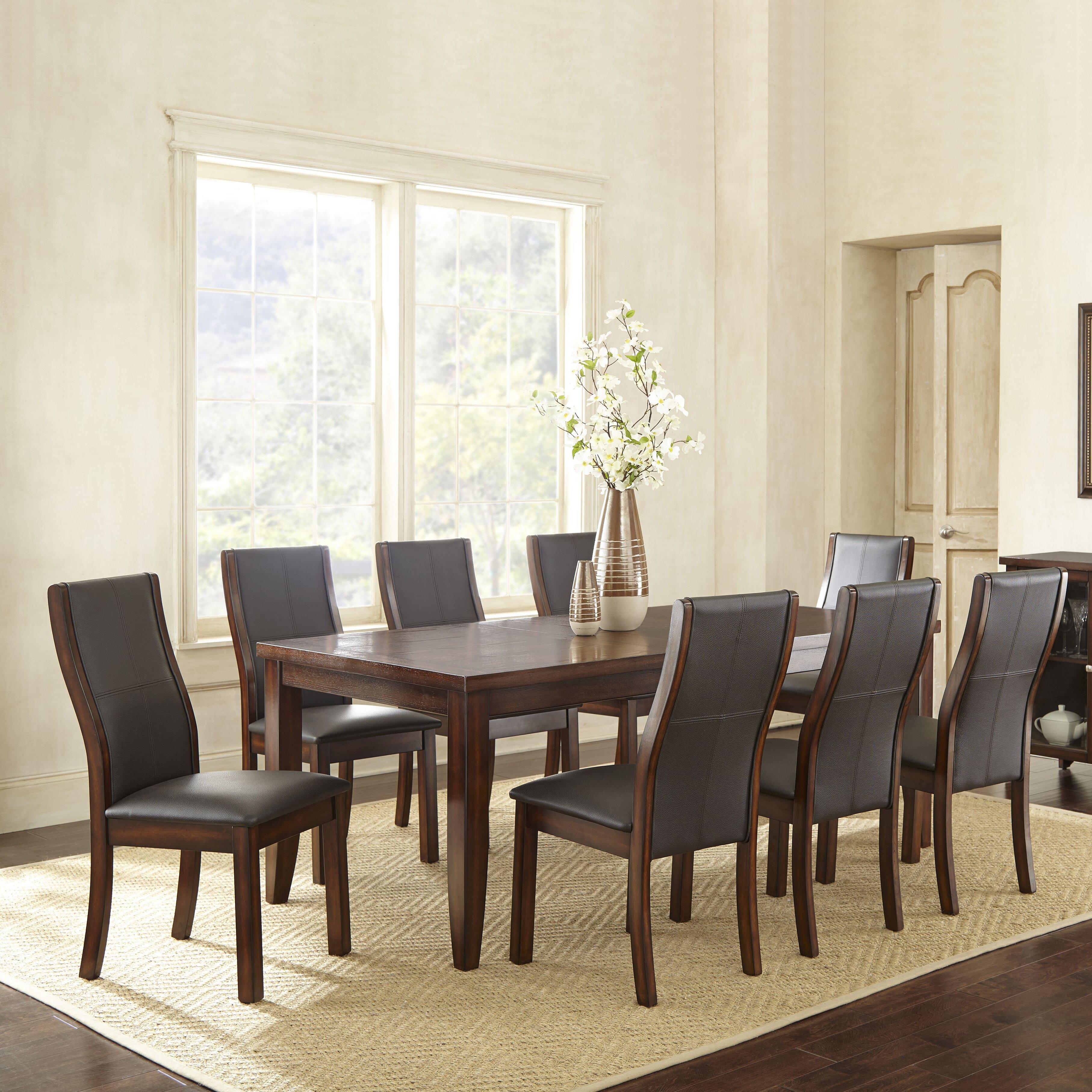 Steve Silver Leona 9 Piece Dining Table Set: Steve Silver Furniture Xander 9 Piece Extendable Dining