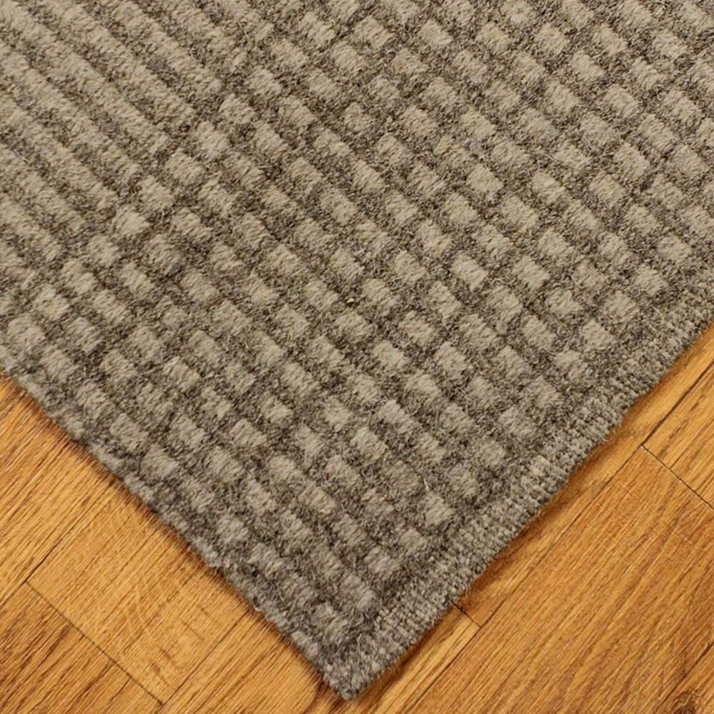 Natural Area Rugs Grey Avalon Black/Gray Plaid Area Rug