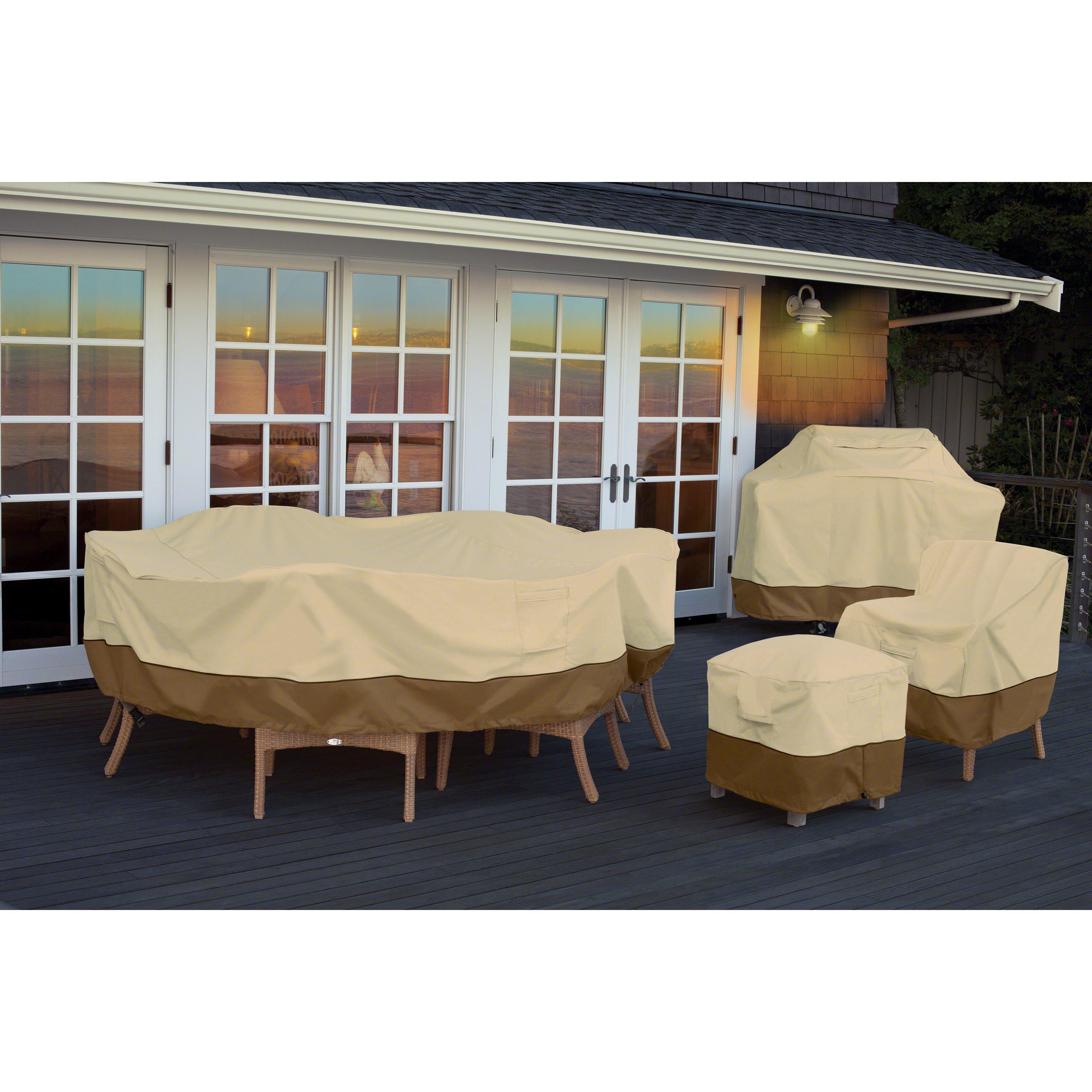 Classic Accessories Veranda Patio Table & Chair Set Cover & Reviews